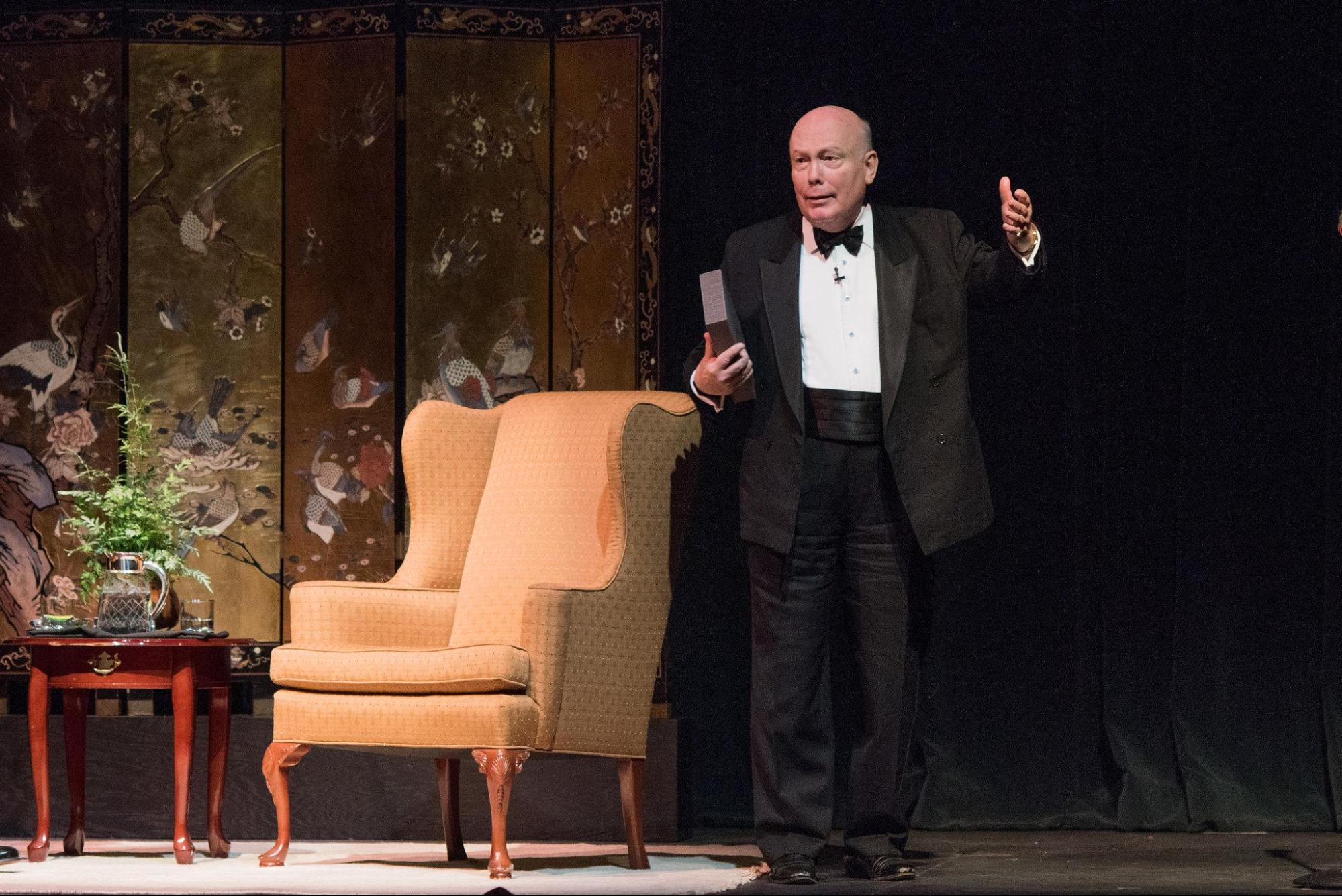 Lord Fellowes takes the stage at the Dock Street Theater