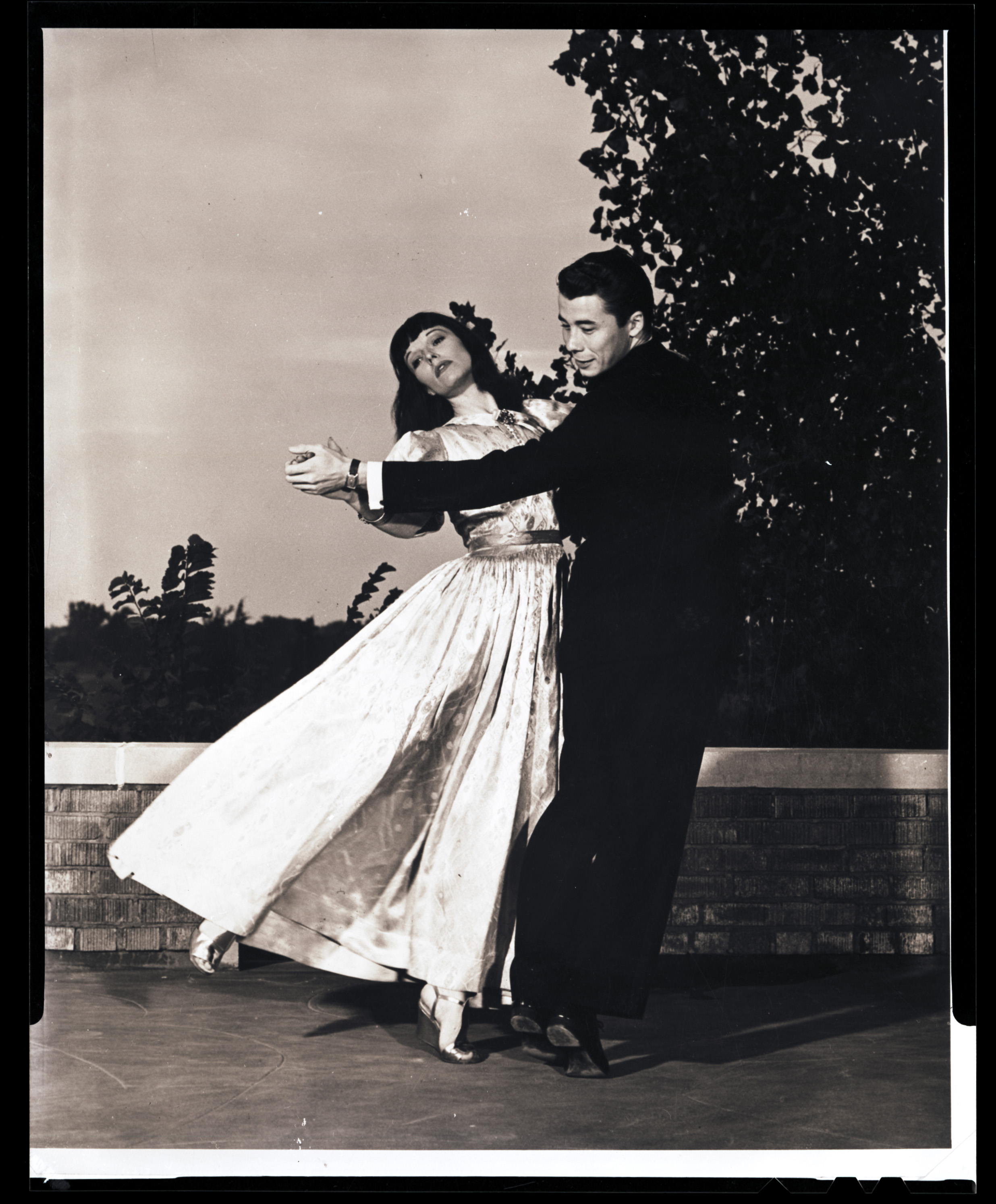 Louise Brooks and Hal McCoy dancing at the Crestview Country Club in Wichita.  Image rendered from original negative given to us by author Tom Graves, via Margaret Brooks, Louise's sister in law