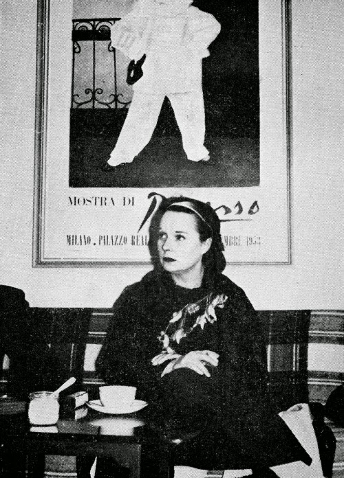 Louise Brooks in 1957 during a European trip she took with Card. This photo was taken in Copenhagen, Denmark.