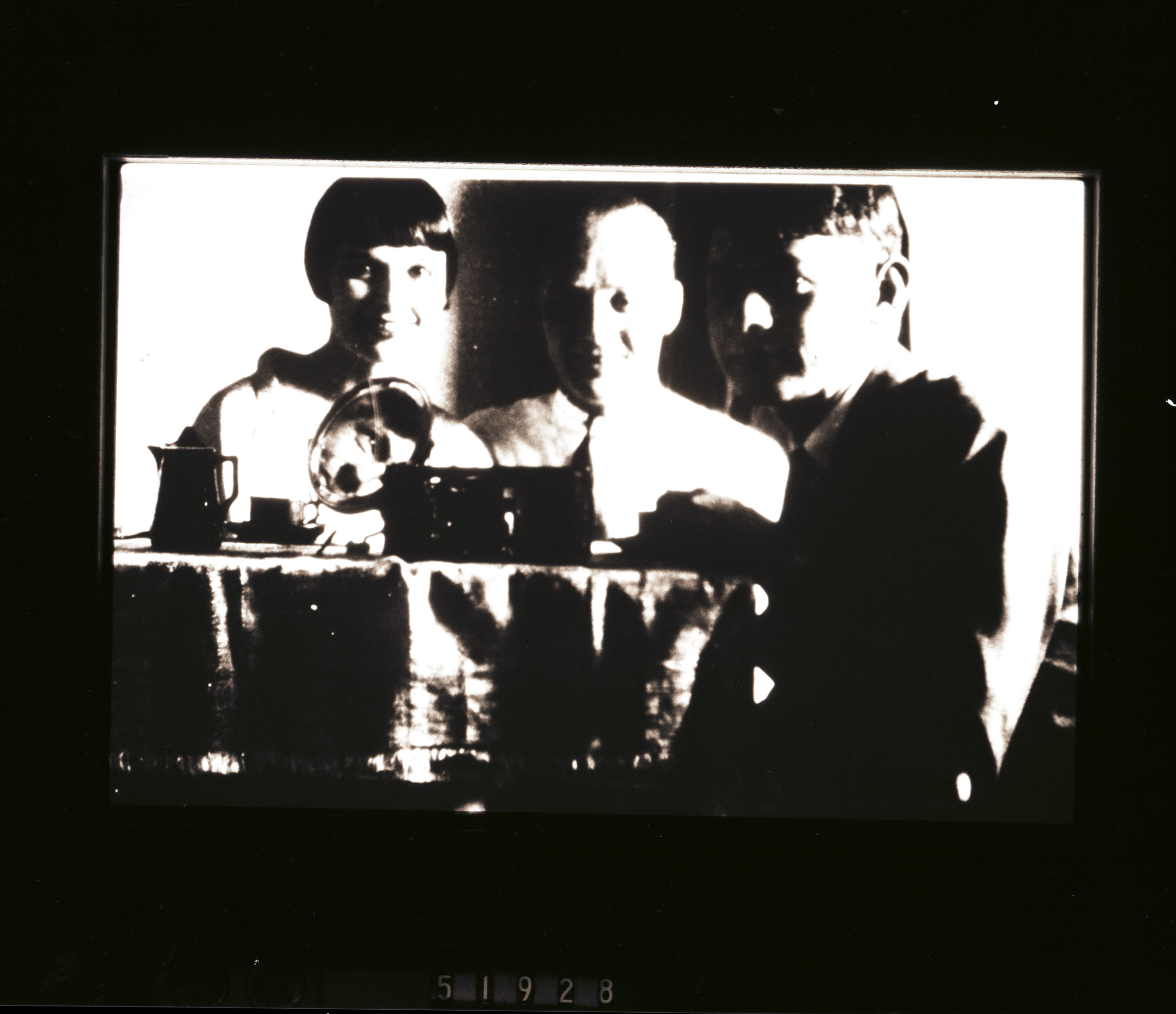 From left to right, Louise Brooks, Eskie, and Lothar Wolff in 1929