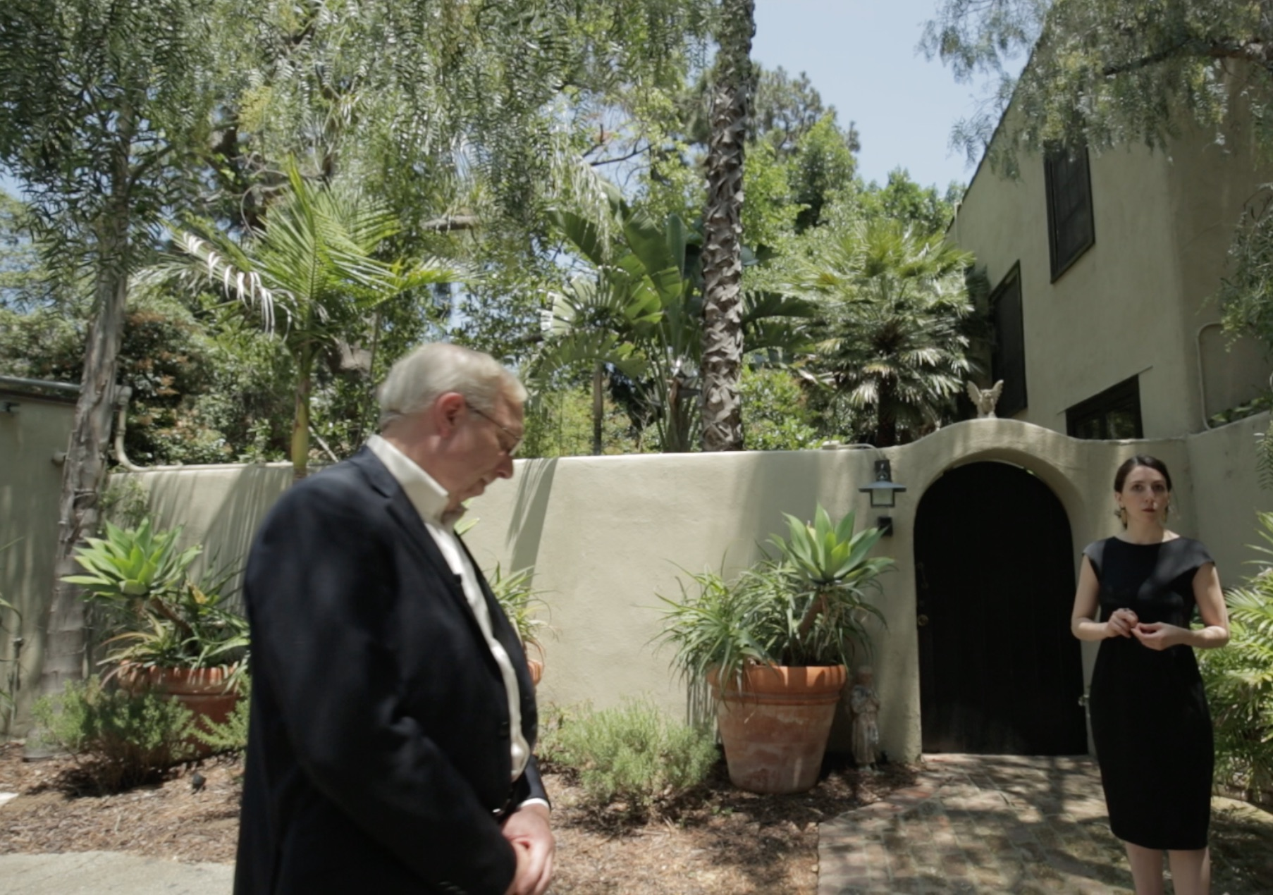Filming at what used to be Louise's Laurel Canyon home with Philip Vorwald. Louise lived there with Eddie Sullivan, her ex-husband, and the spot was a notorious party location when the two of them lived in it.