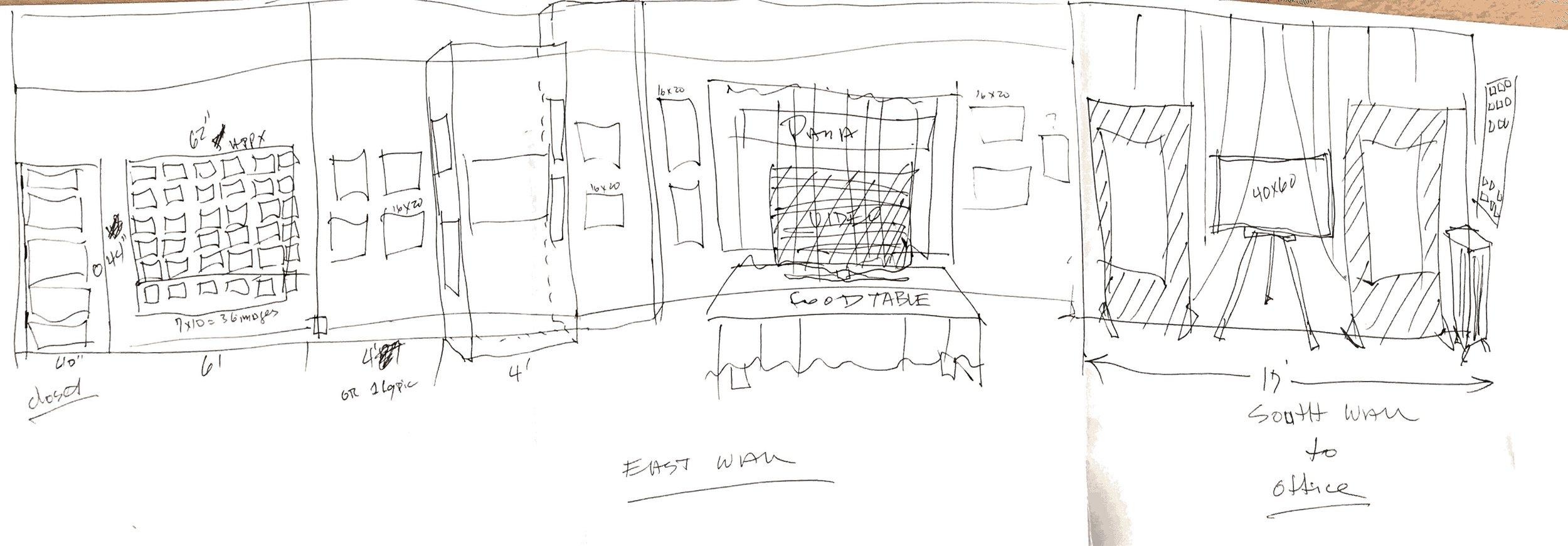 Ward Russel gallery sketch 2