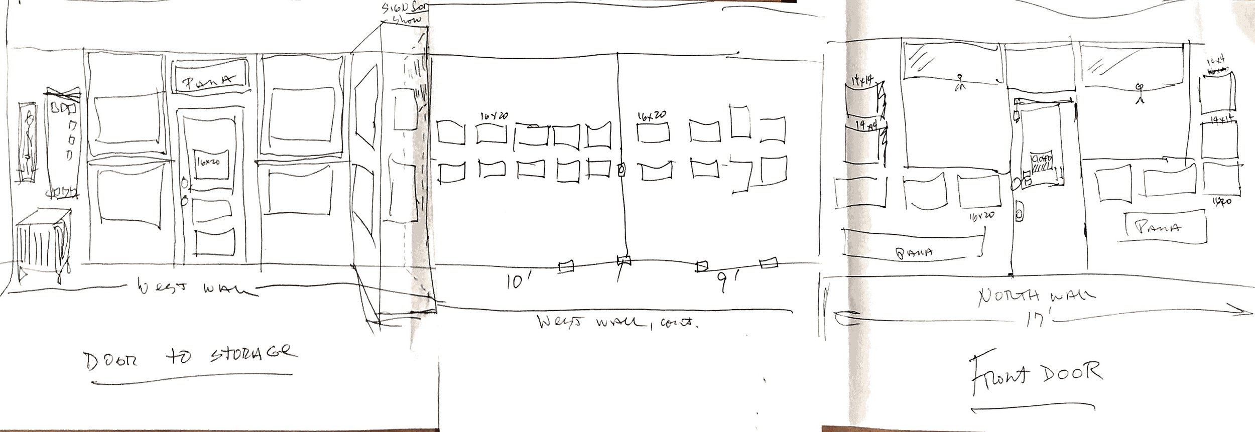 Ward Russel gallery sketch 1