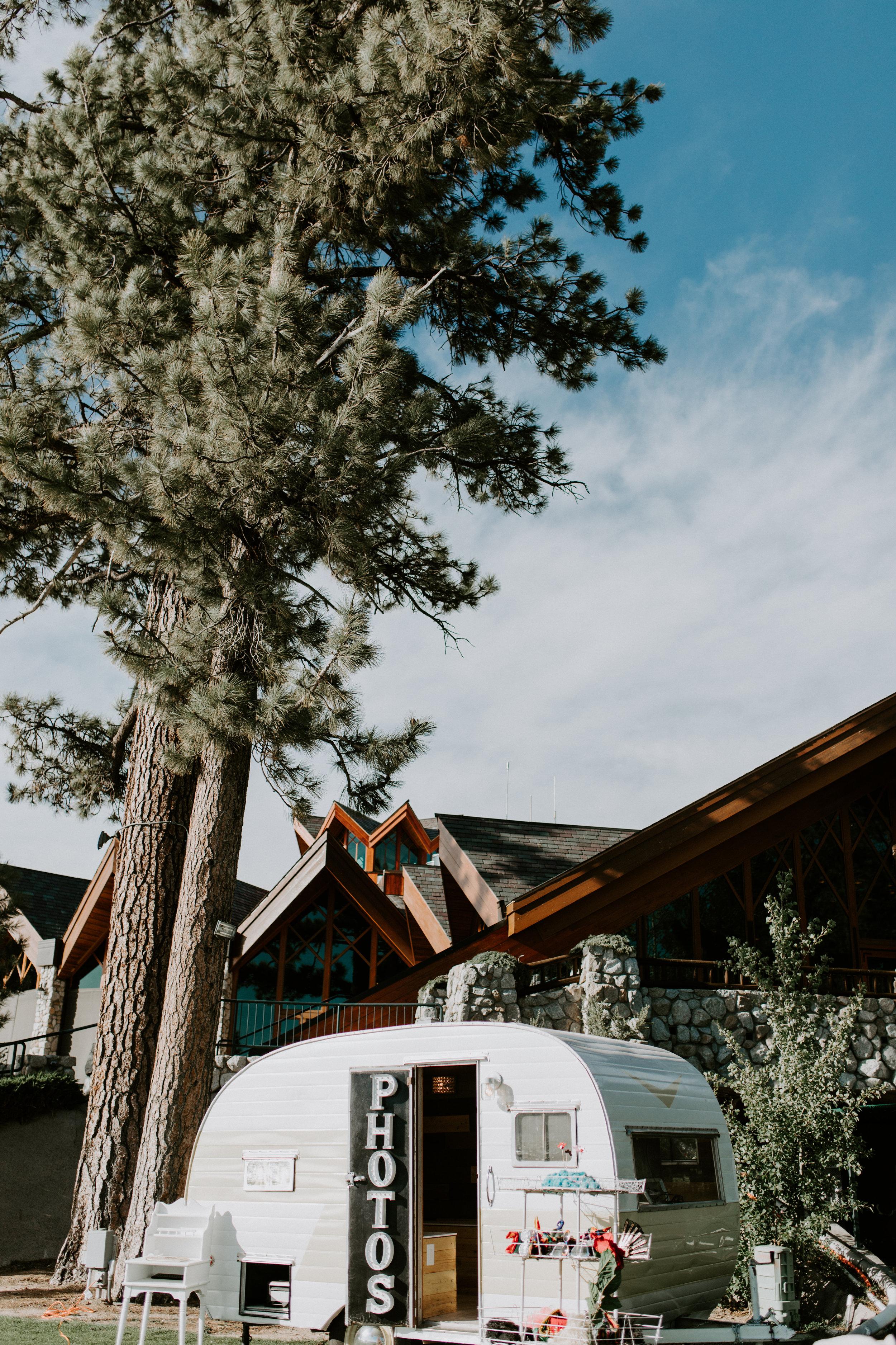 Vintage Camper Photo Booth - Tahoe Wedding
