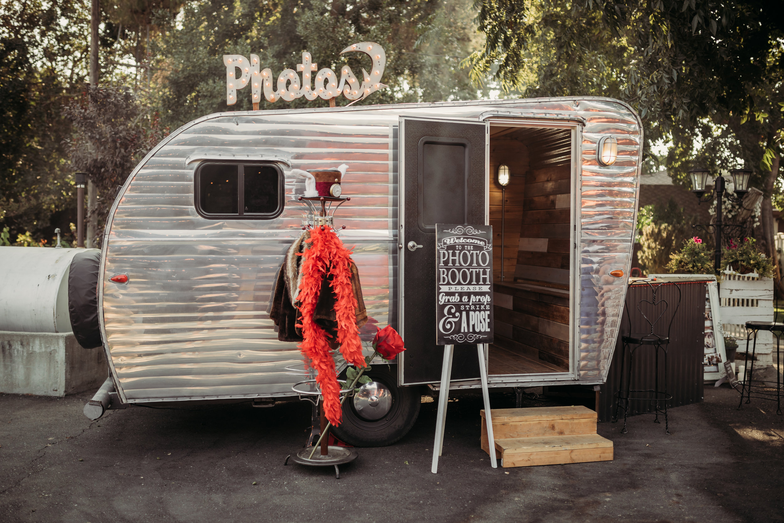 Vintage Trailer Photo Booth at Monk Ranch