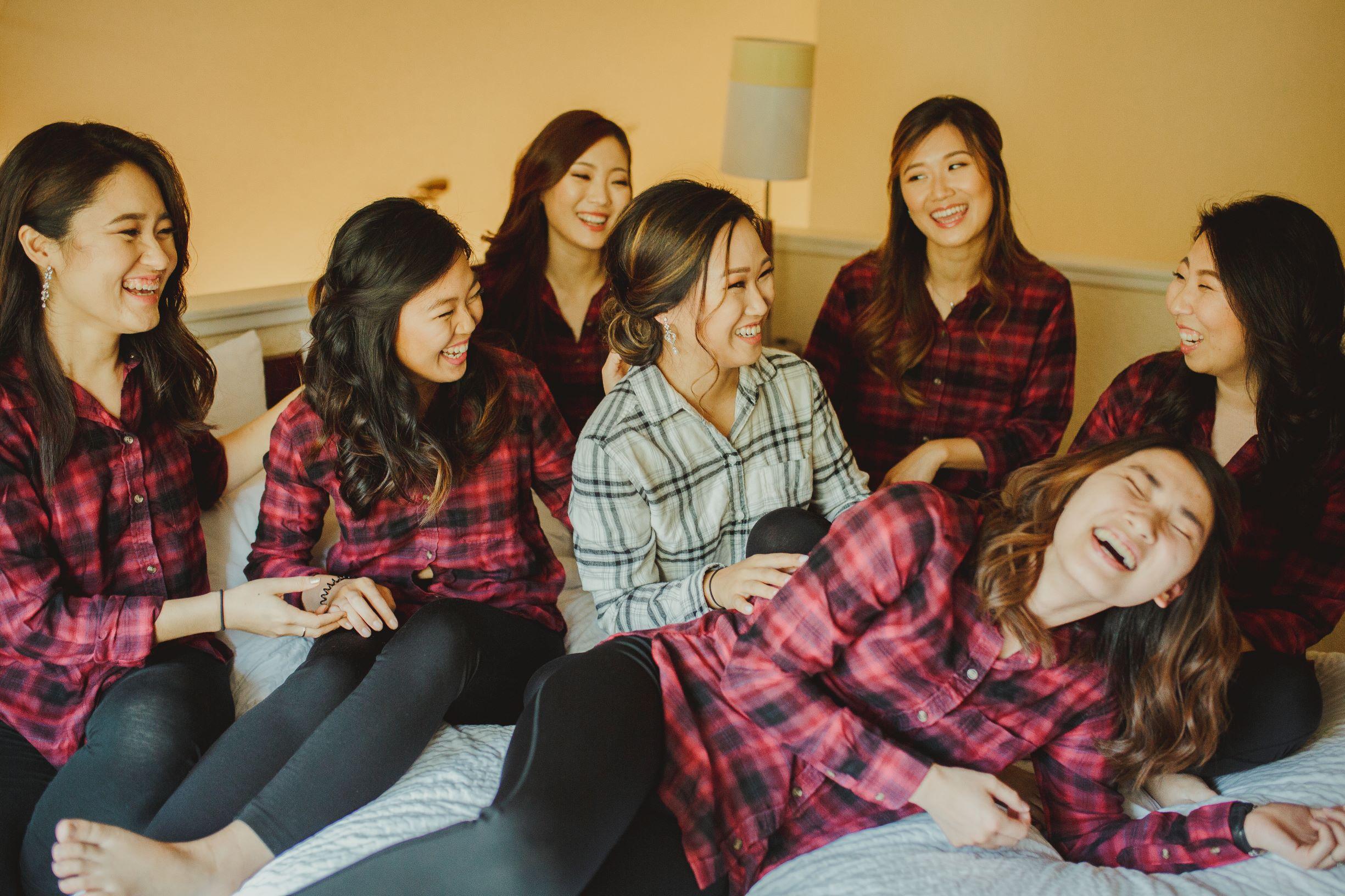 Jamison Brown House Wedding - Flannel Tee Bridesmaids