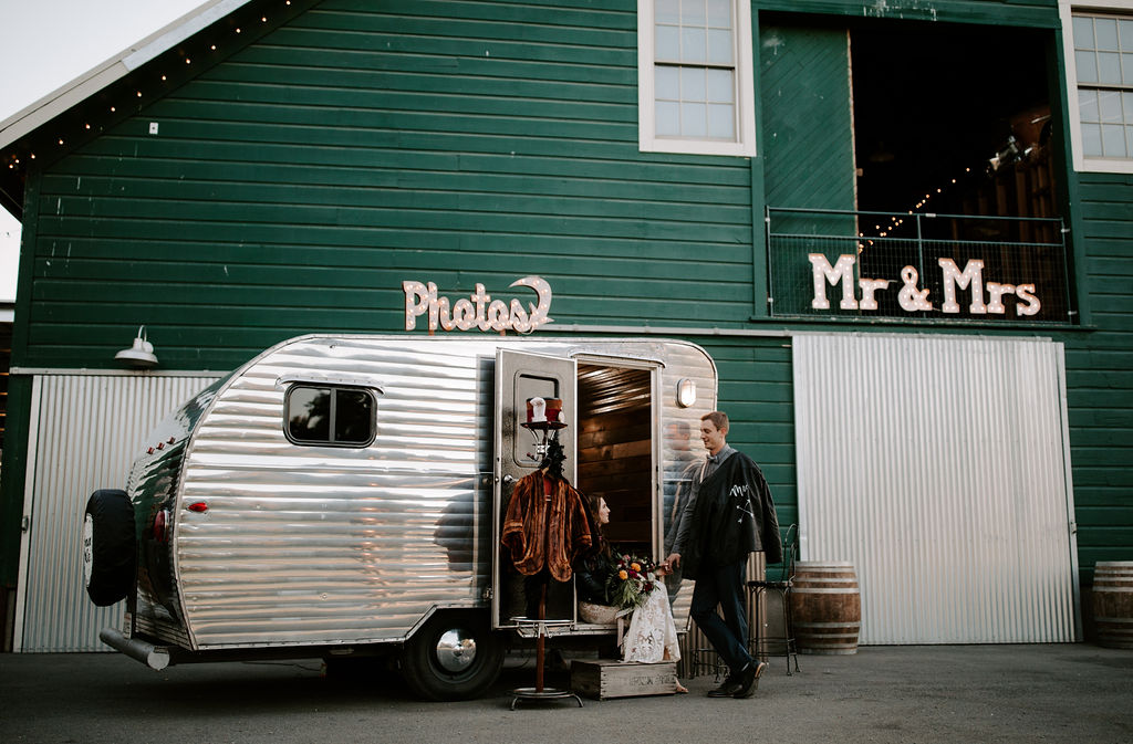 Vintage Camper Photo Booth, Northern California.