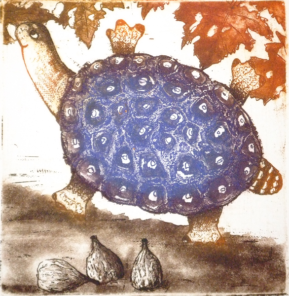 In the Fig Season-  £65.00        Click here to buy this print    An etching - 25 cmx28 cm  Edition 13/45 and 17/75