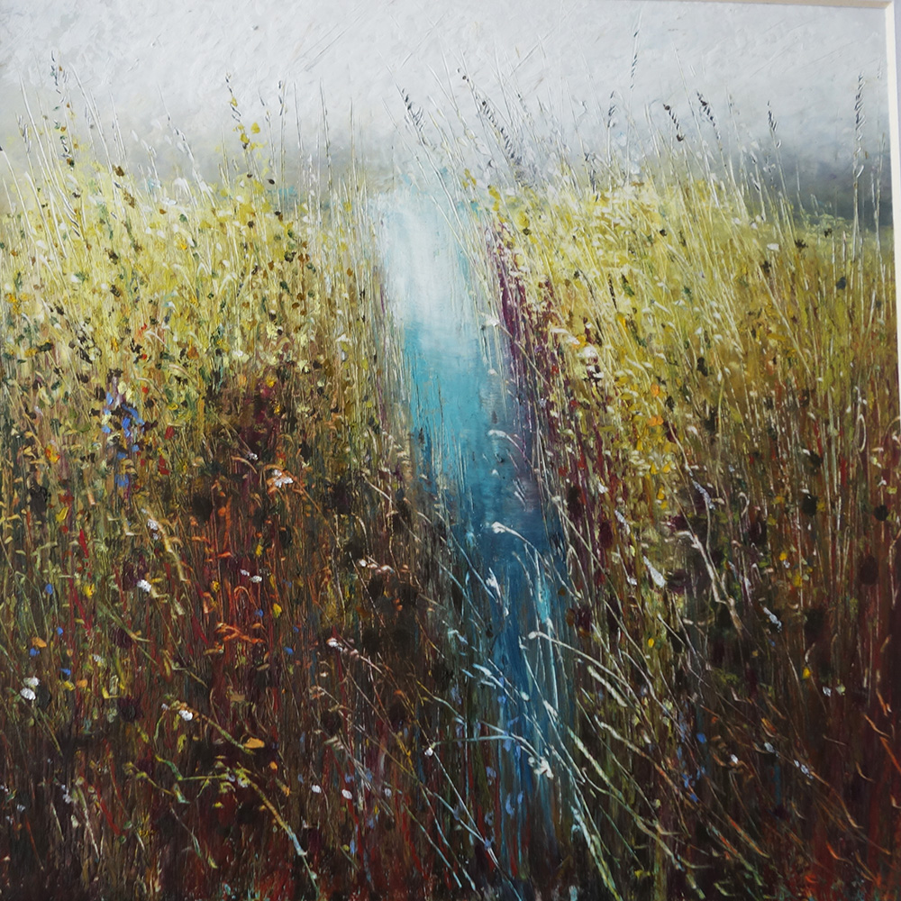 £245 Autumn Song IV  - oil pastel and pencil - Lyz Gardner