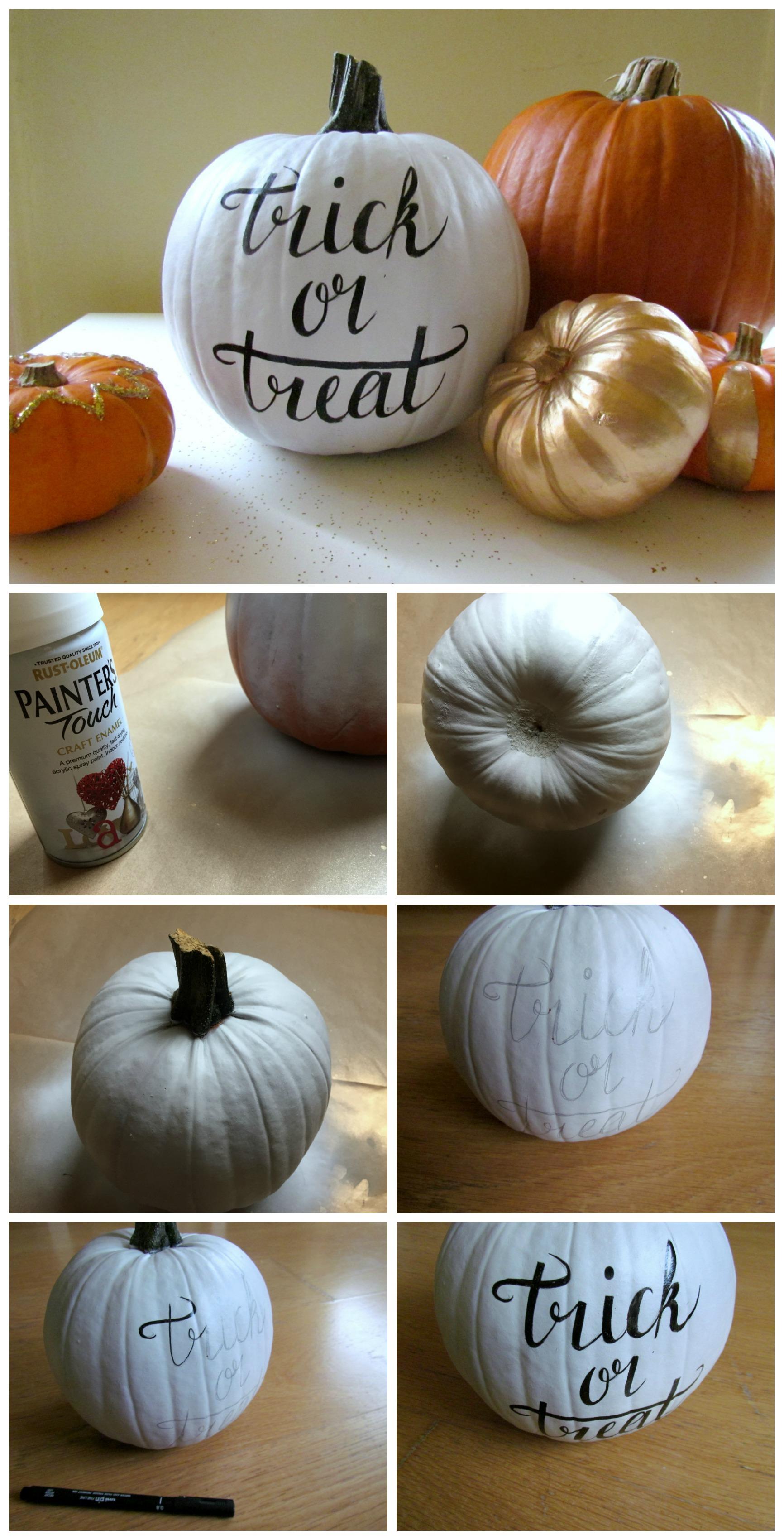 DIY Halloween Hand-Lettered Pumpkin by Isoscella