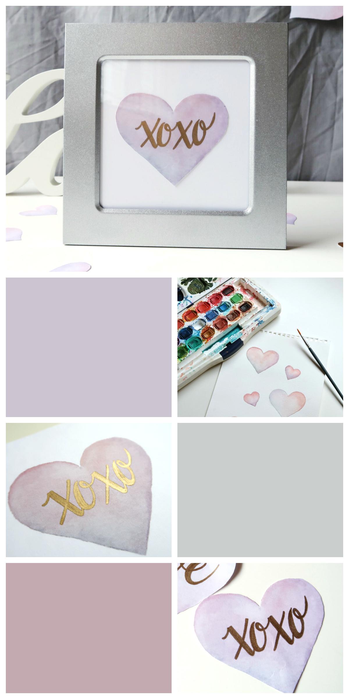 Watercolour Hearts DIY by Isoscella