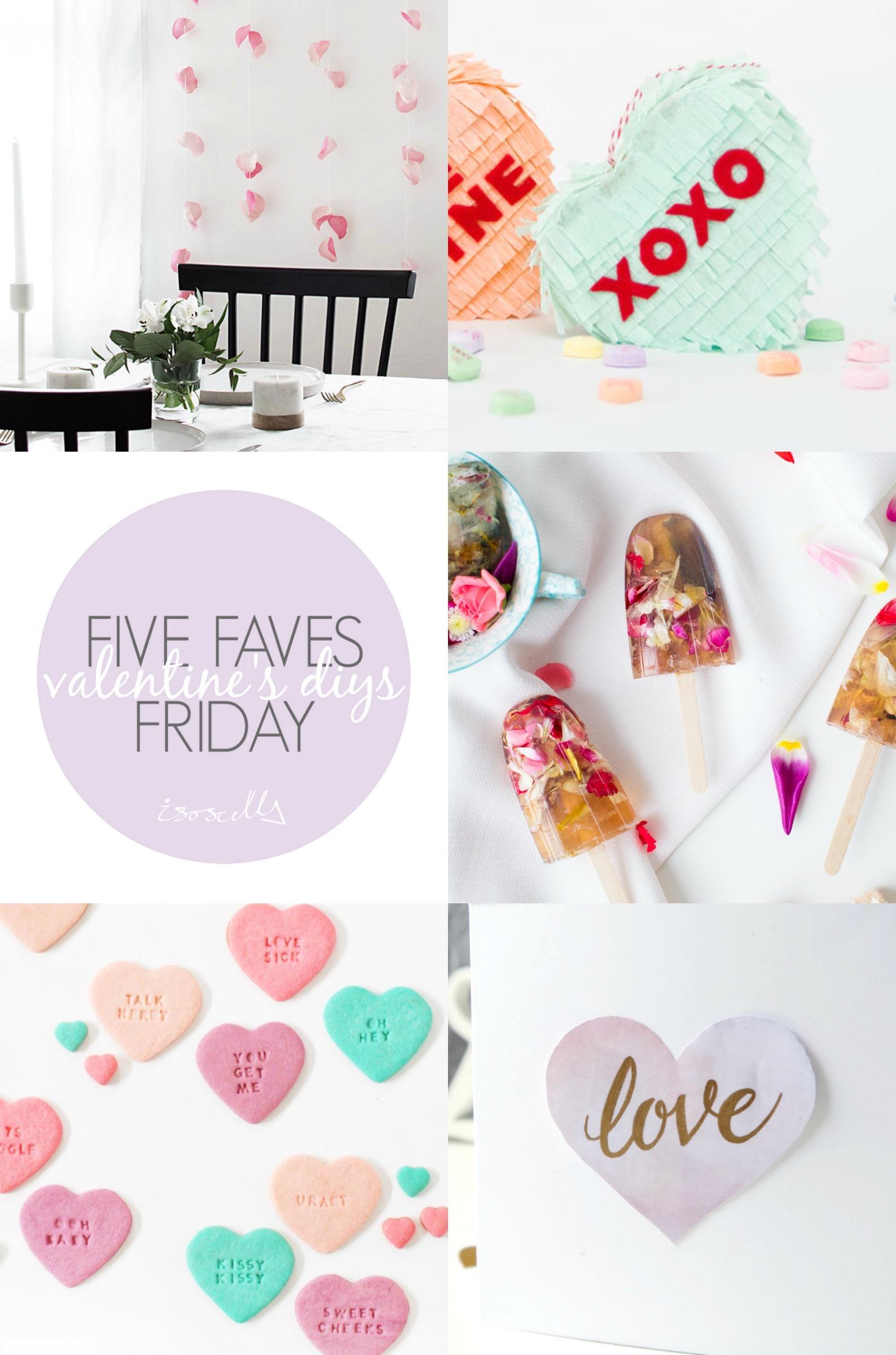 Five Faves Friday // Valentine's DIYs on Isoscella