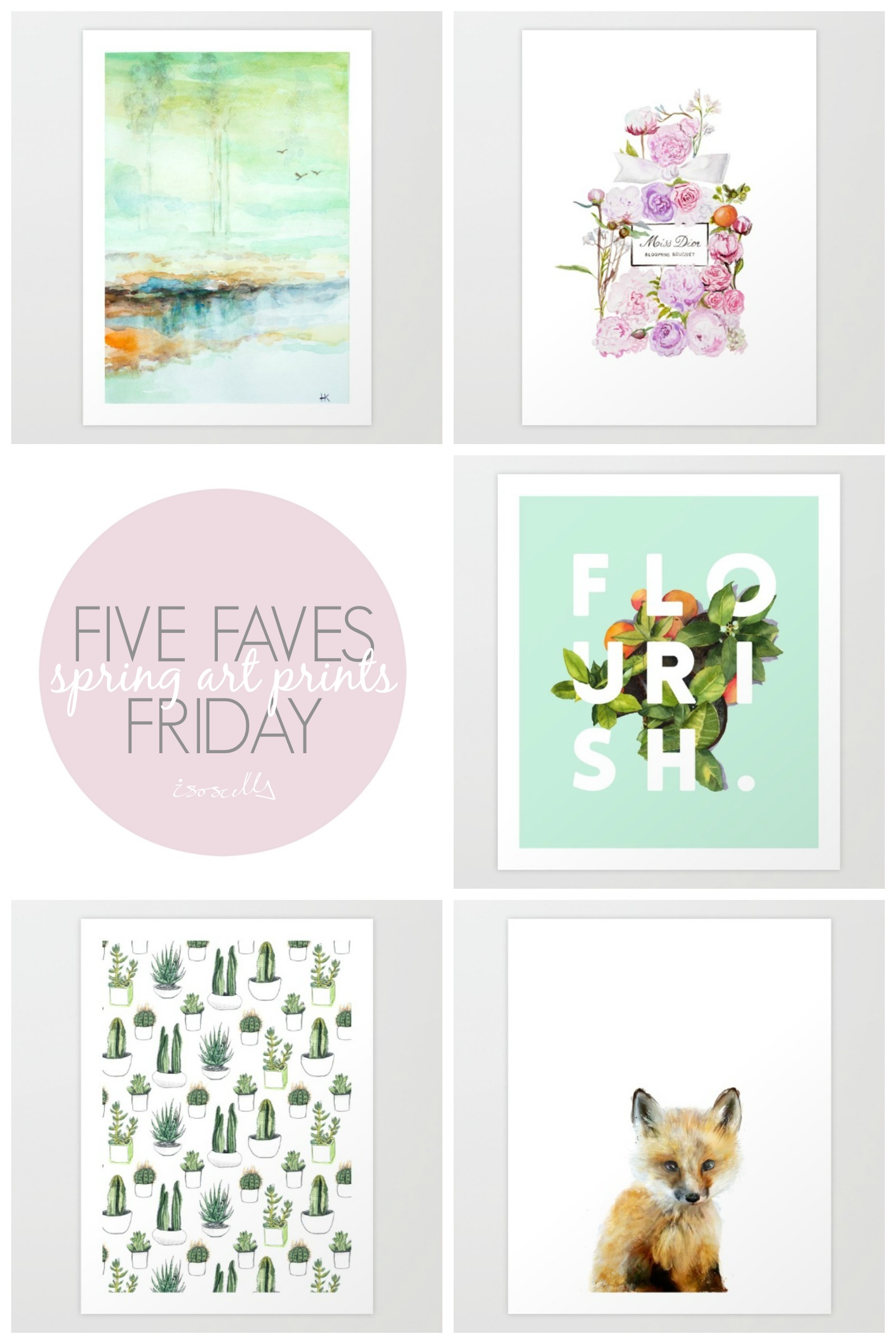 Five Faves Friday // Spring Art Prints - Isoscella