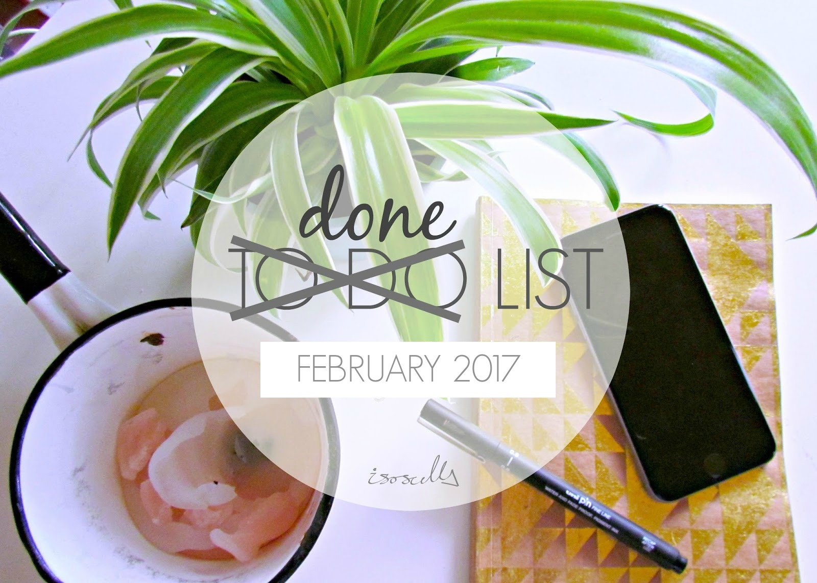 Done List February 2017 by Isoscella