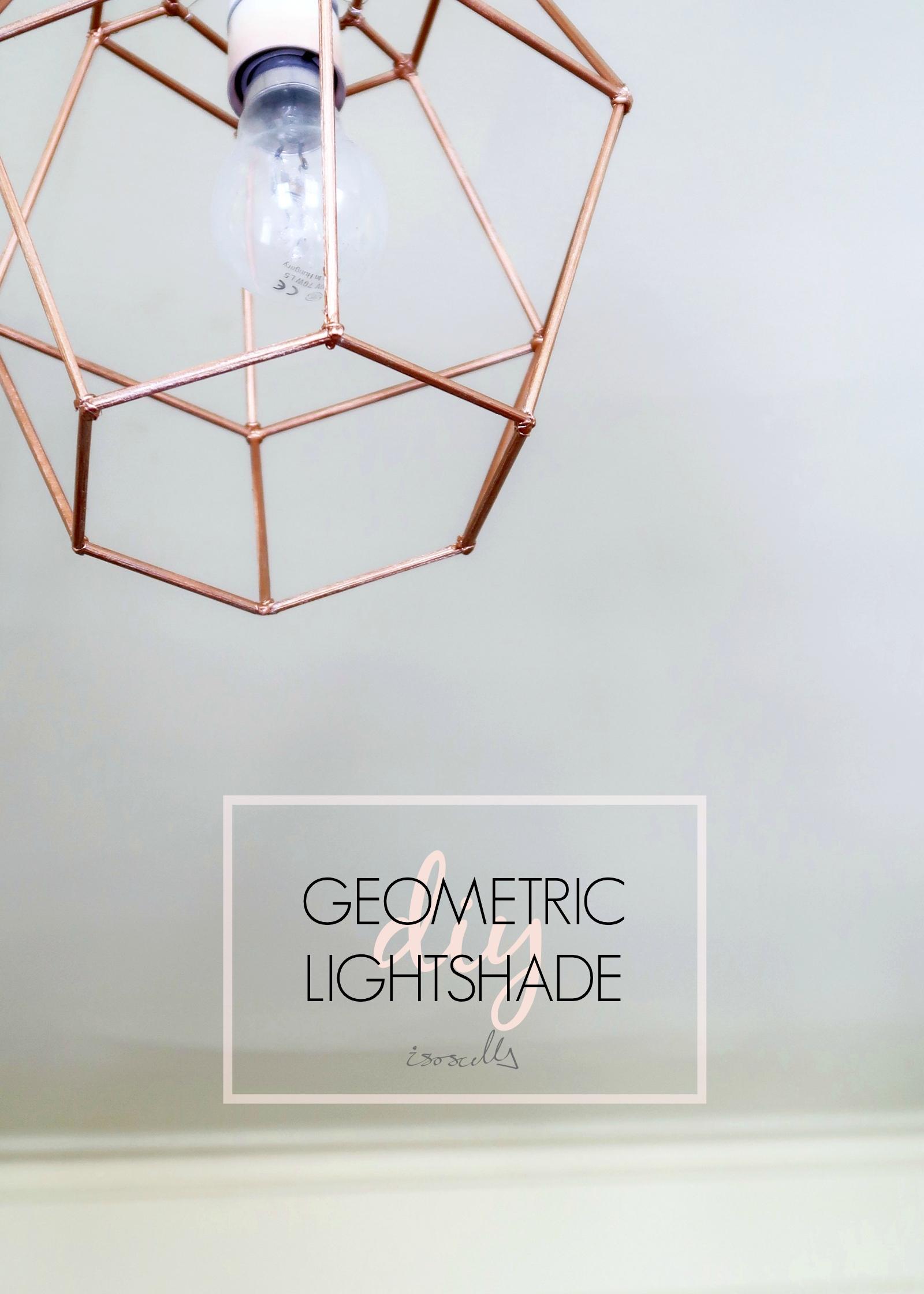 DIY Geometric Light Shade by Isoscella