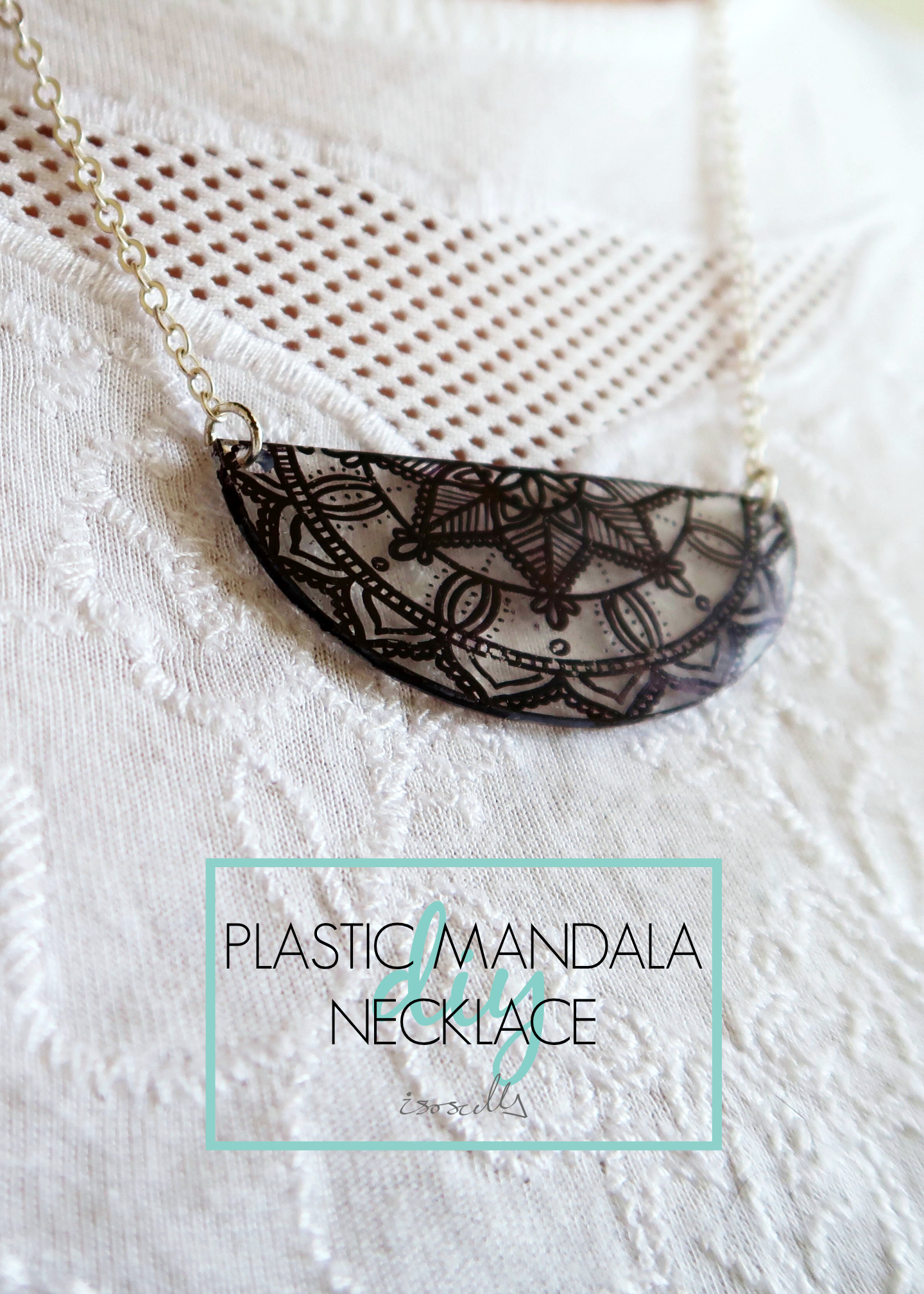 DIY Plastic Mandala Necklace by Isoscella