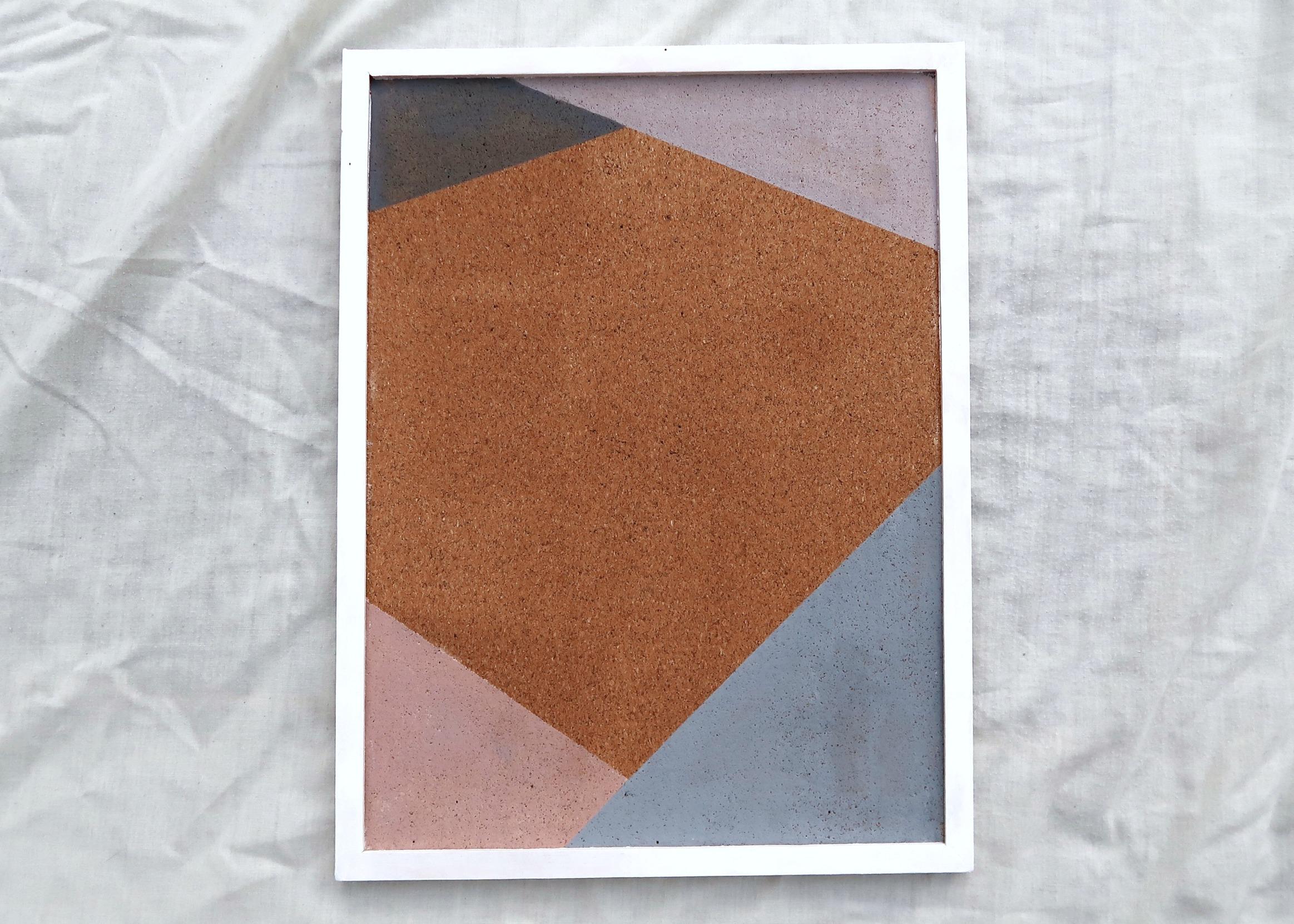 DIY Triangles Notice Board by Isoscella