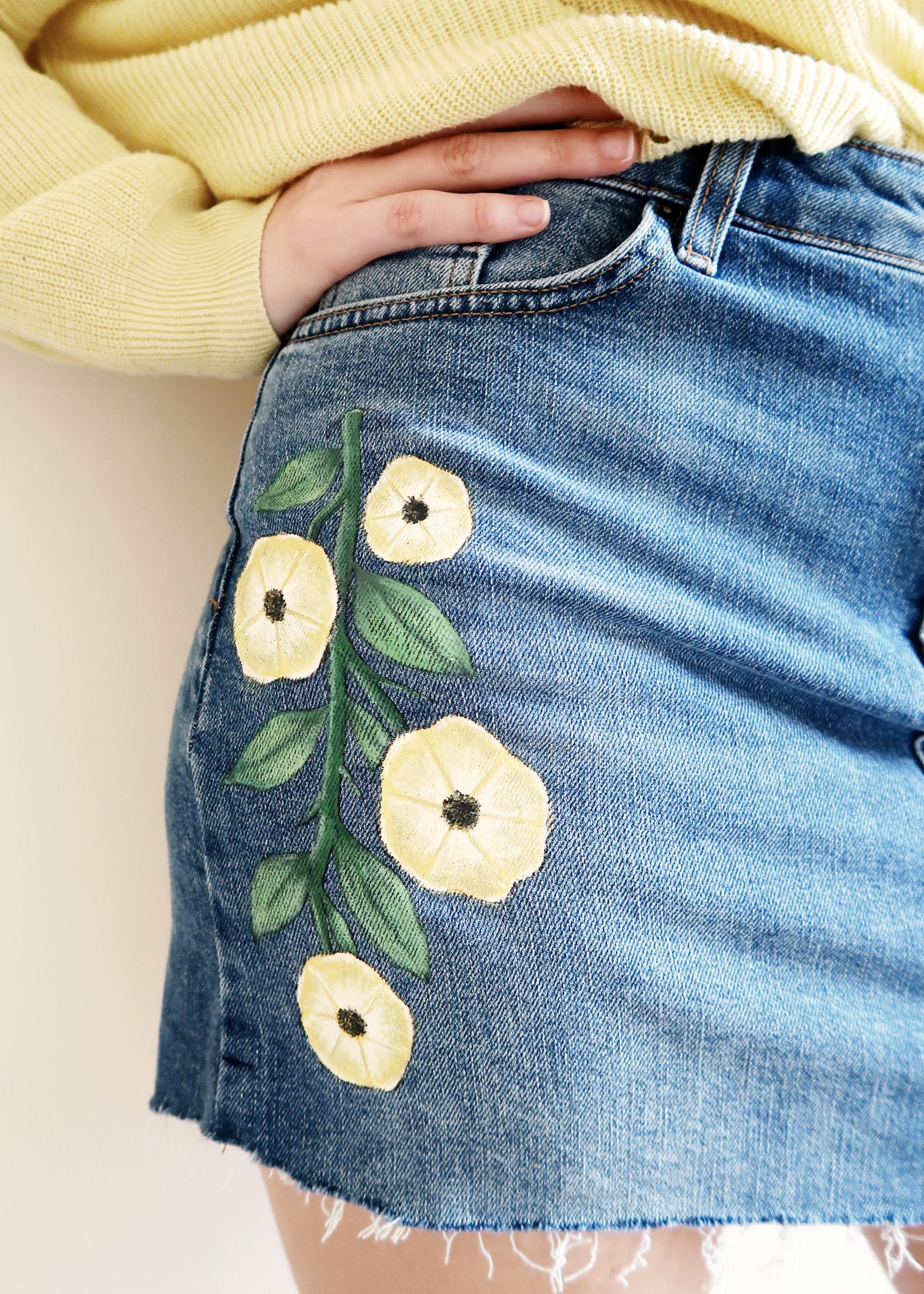 DIY Topshop Inspired Denim Skirt by Isoscella