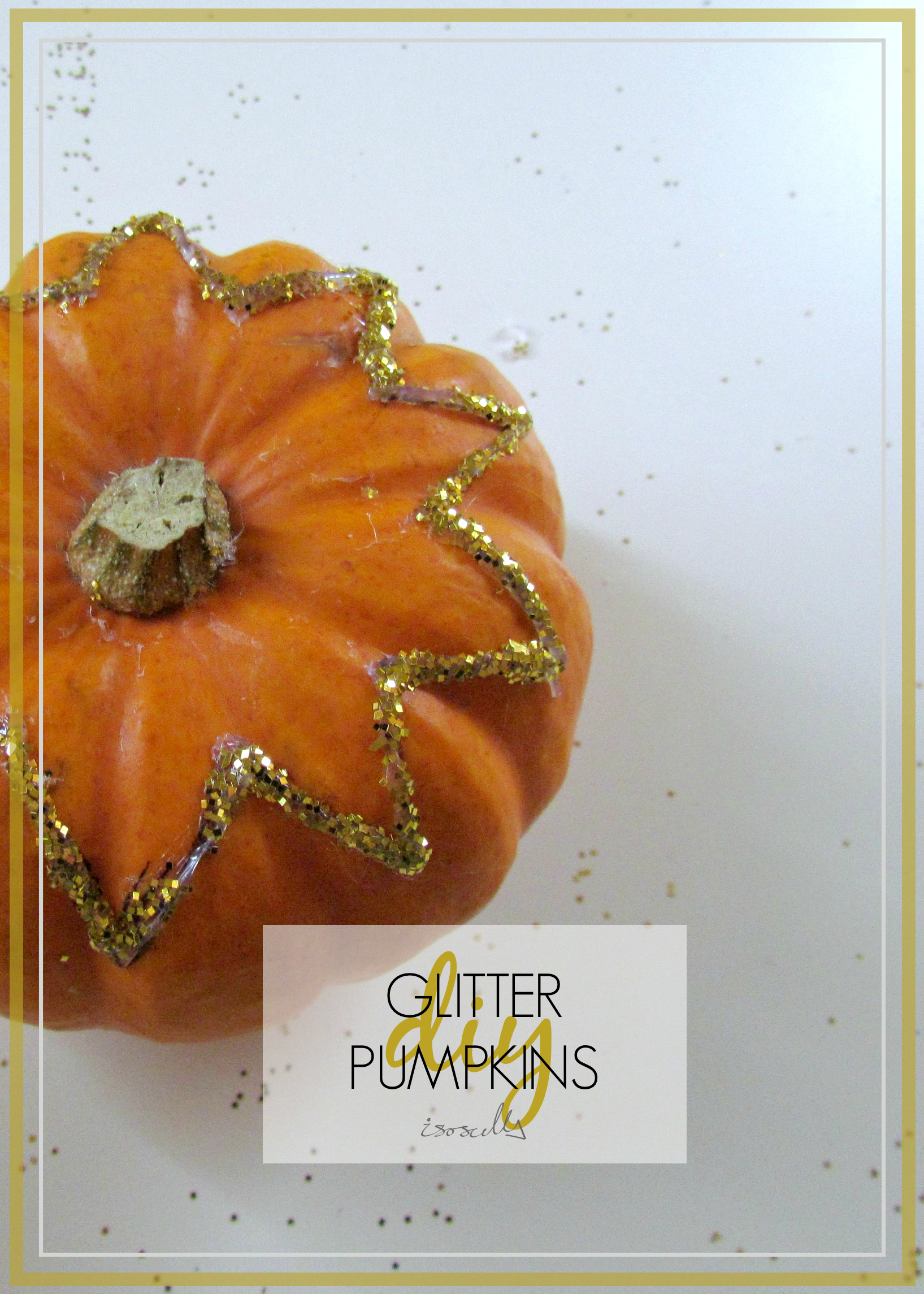 DIY Glitter Pumpkin by Isoscella