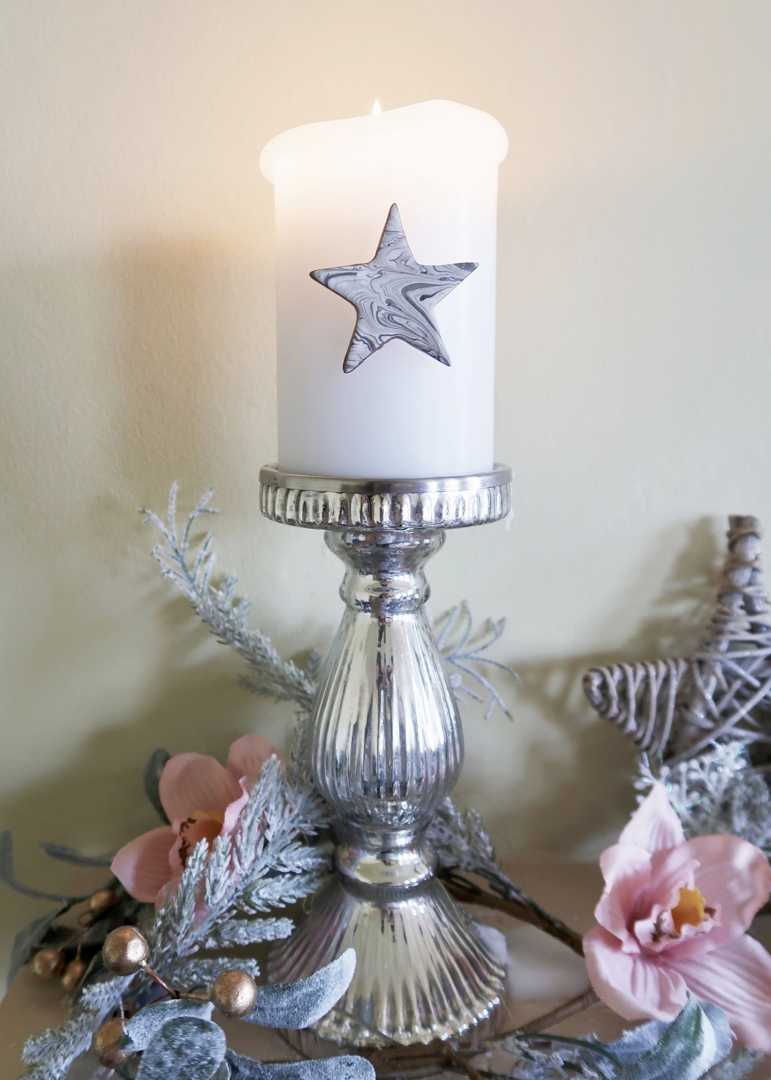DIY Marble Star Candle Pin by Isoscella