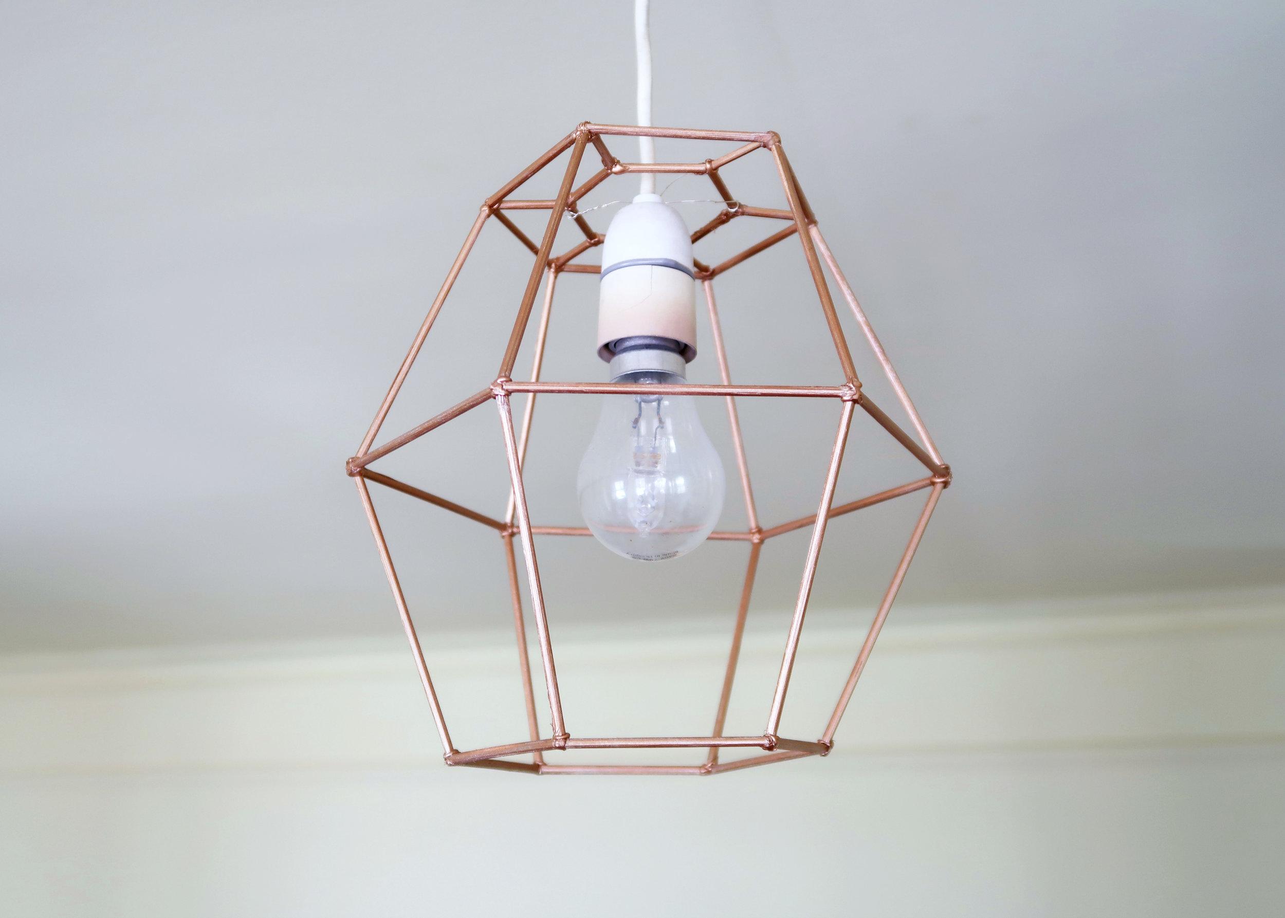 DIY Geometric Lightshade by Isoscella