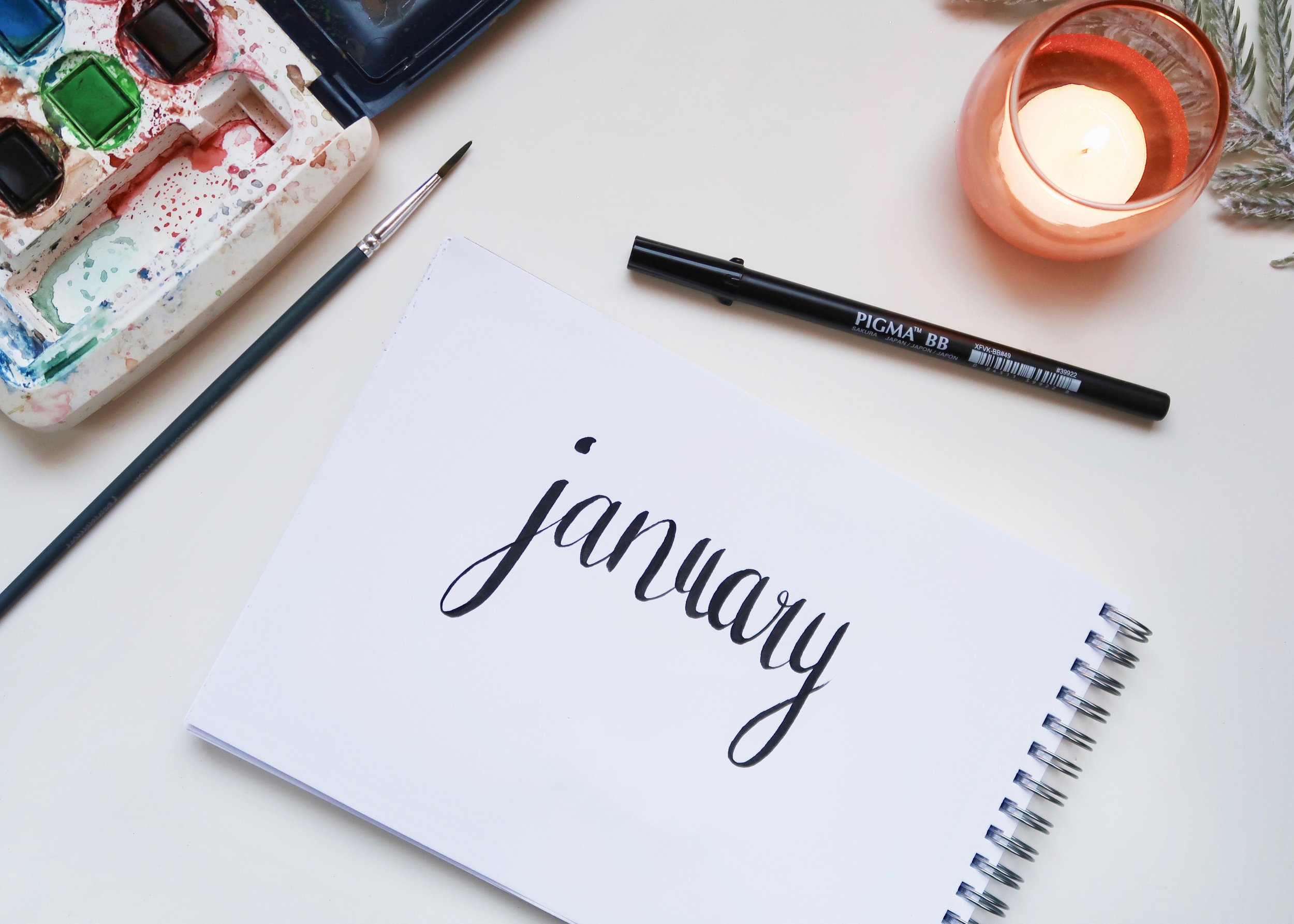 Printable January 2018 Calendar by Isoscella