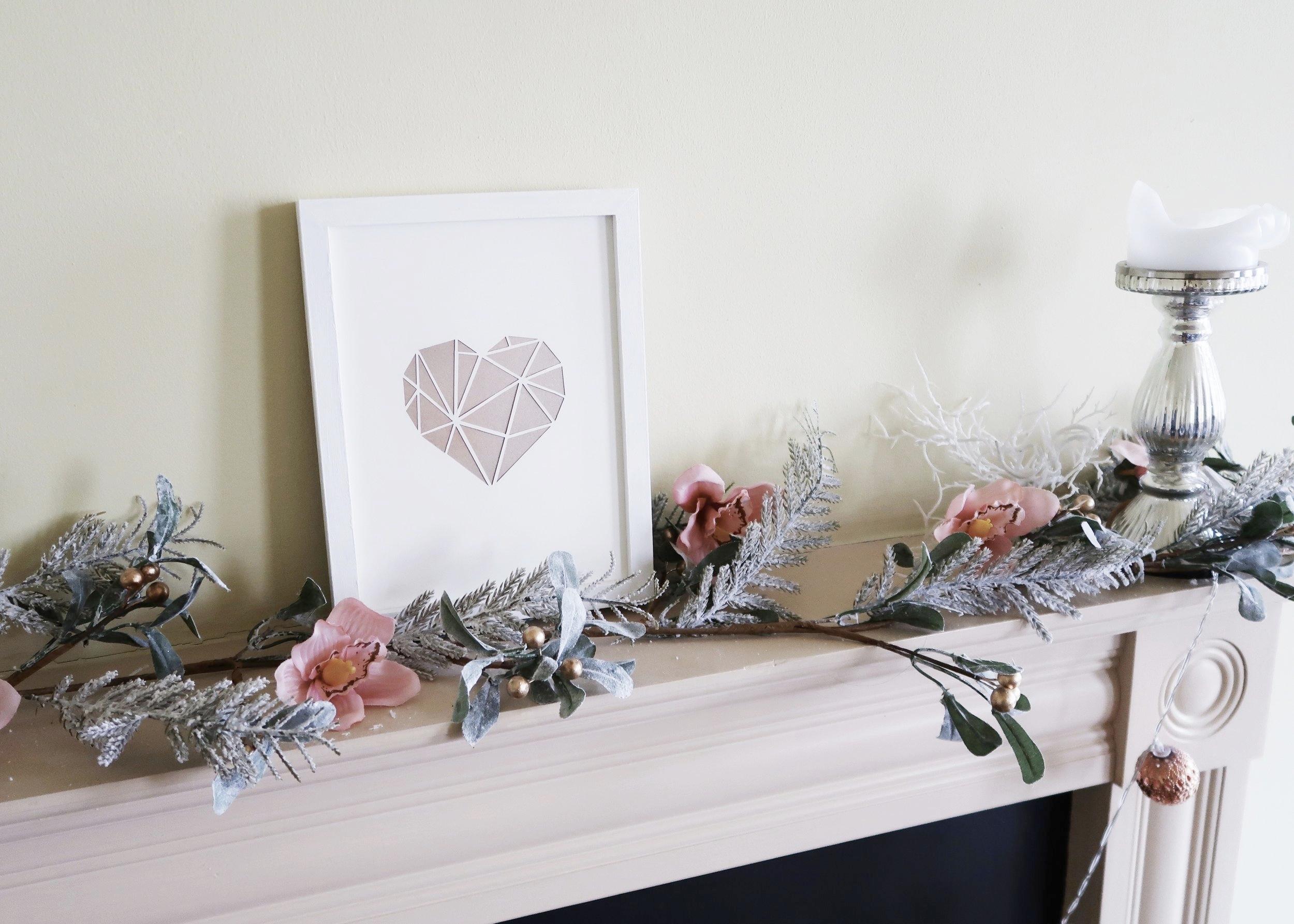 DIY Paper-cut Heart Wall Art by Isoscella
