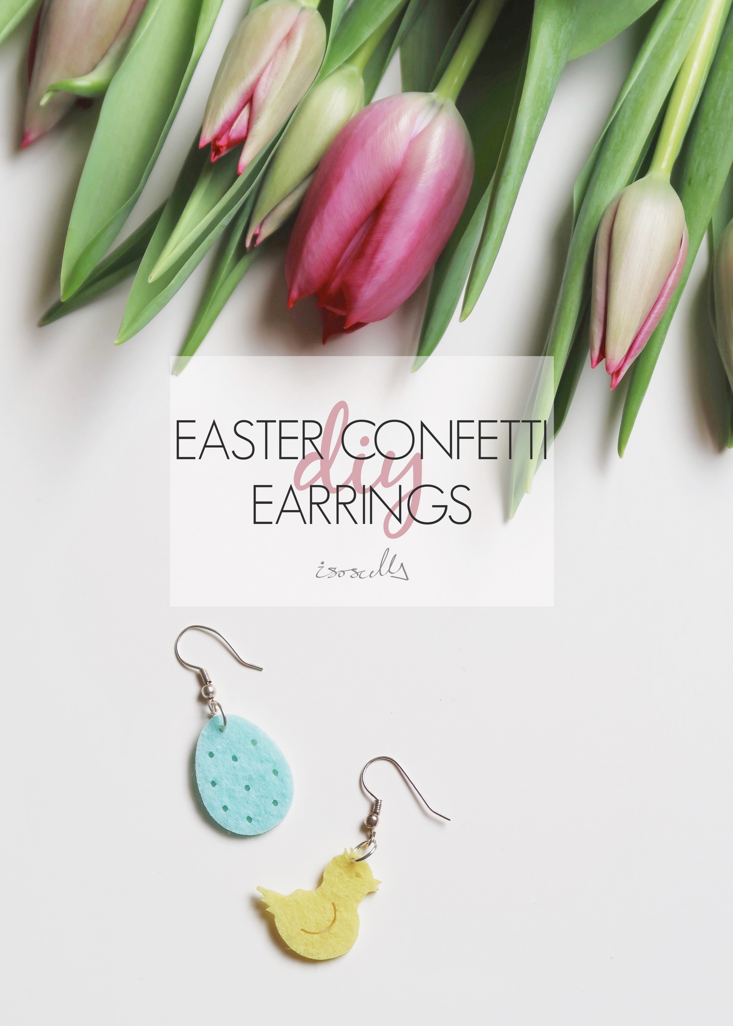 5 Minute DIY - Easter Confetti Earrings - Isoscella