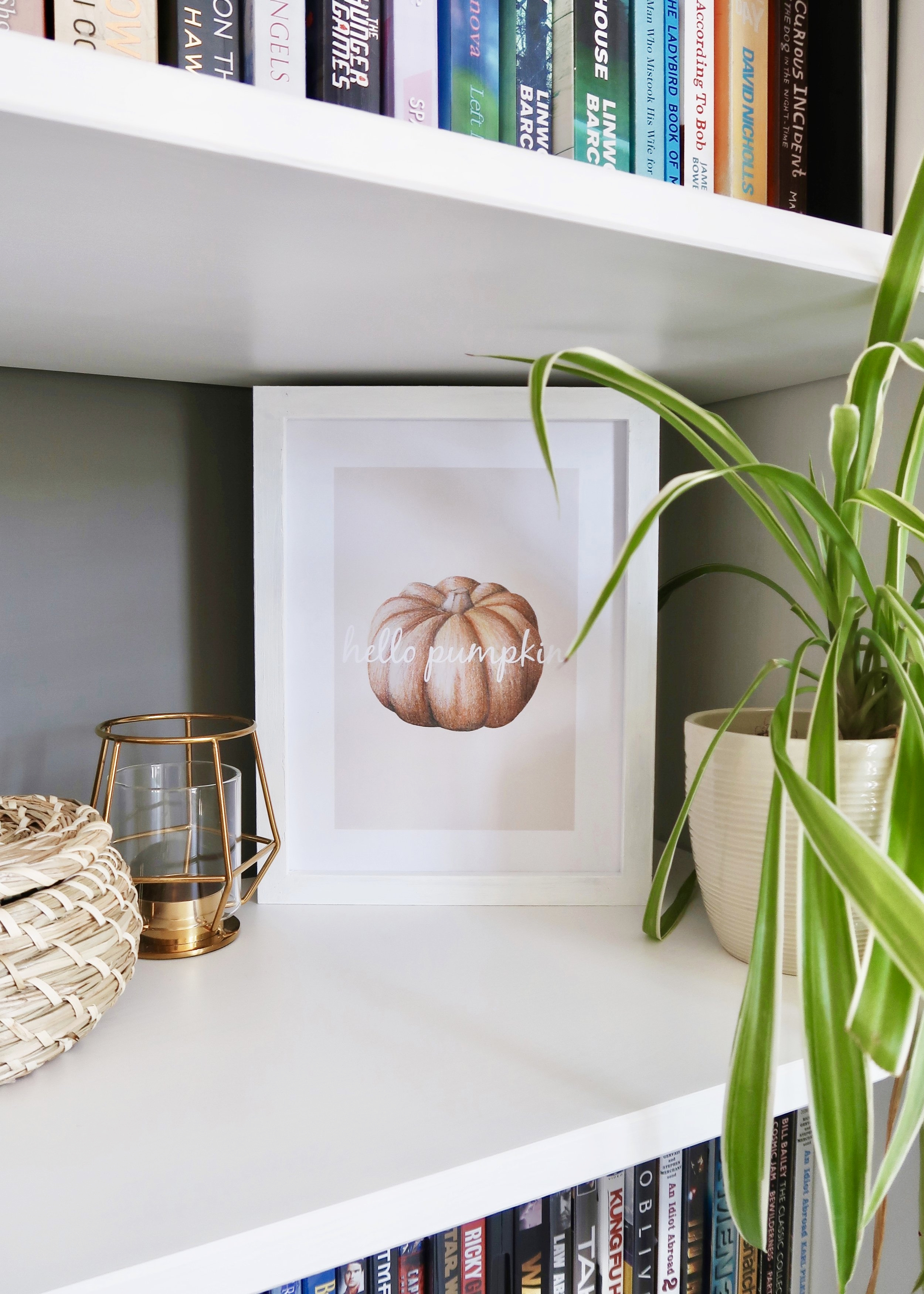 Printable Pumpkin Wall Art by Isoscella