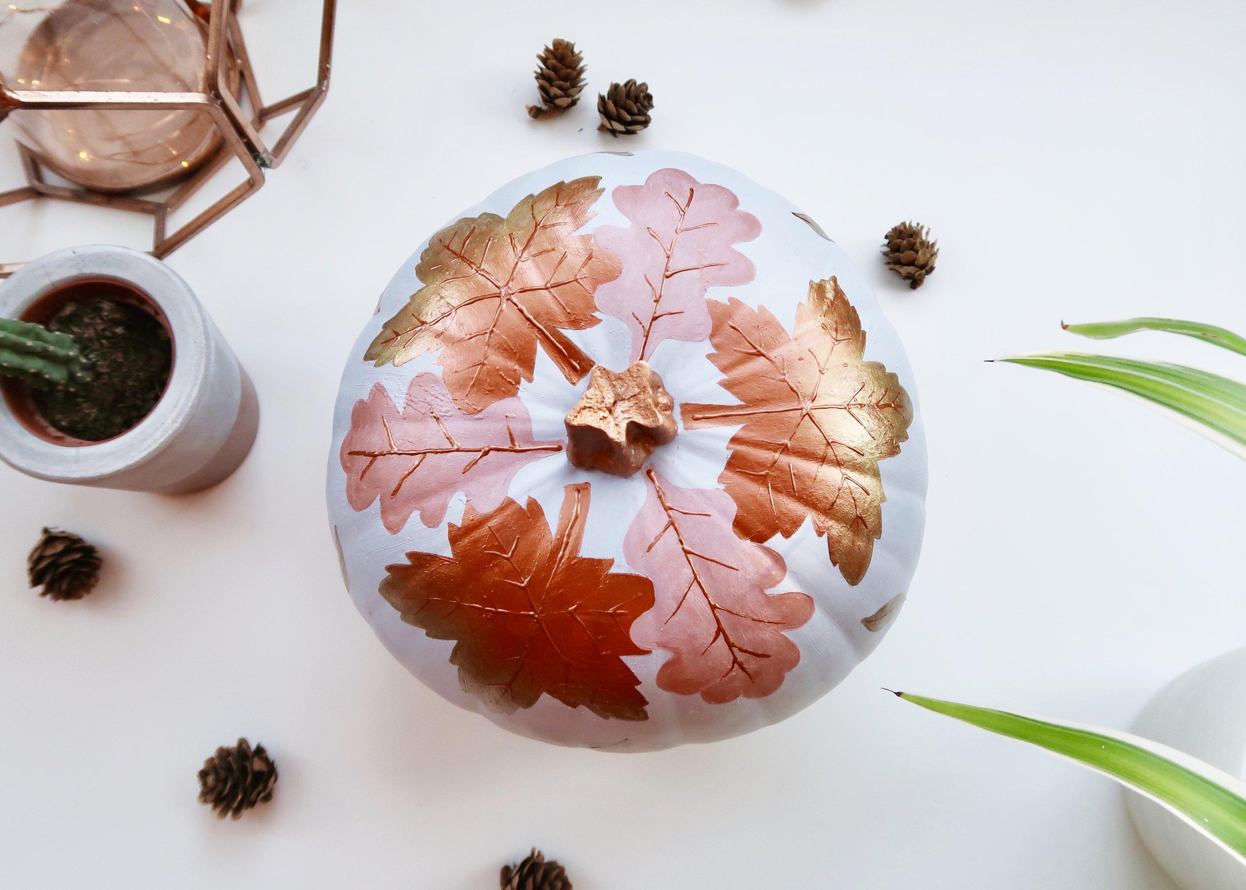 Falling Leaves No-Carve Pumpkin by Isoscella