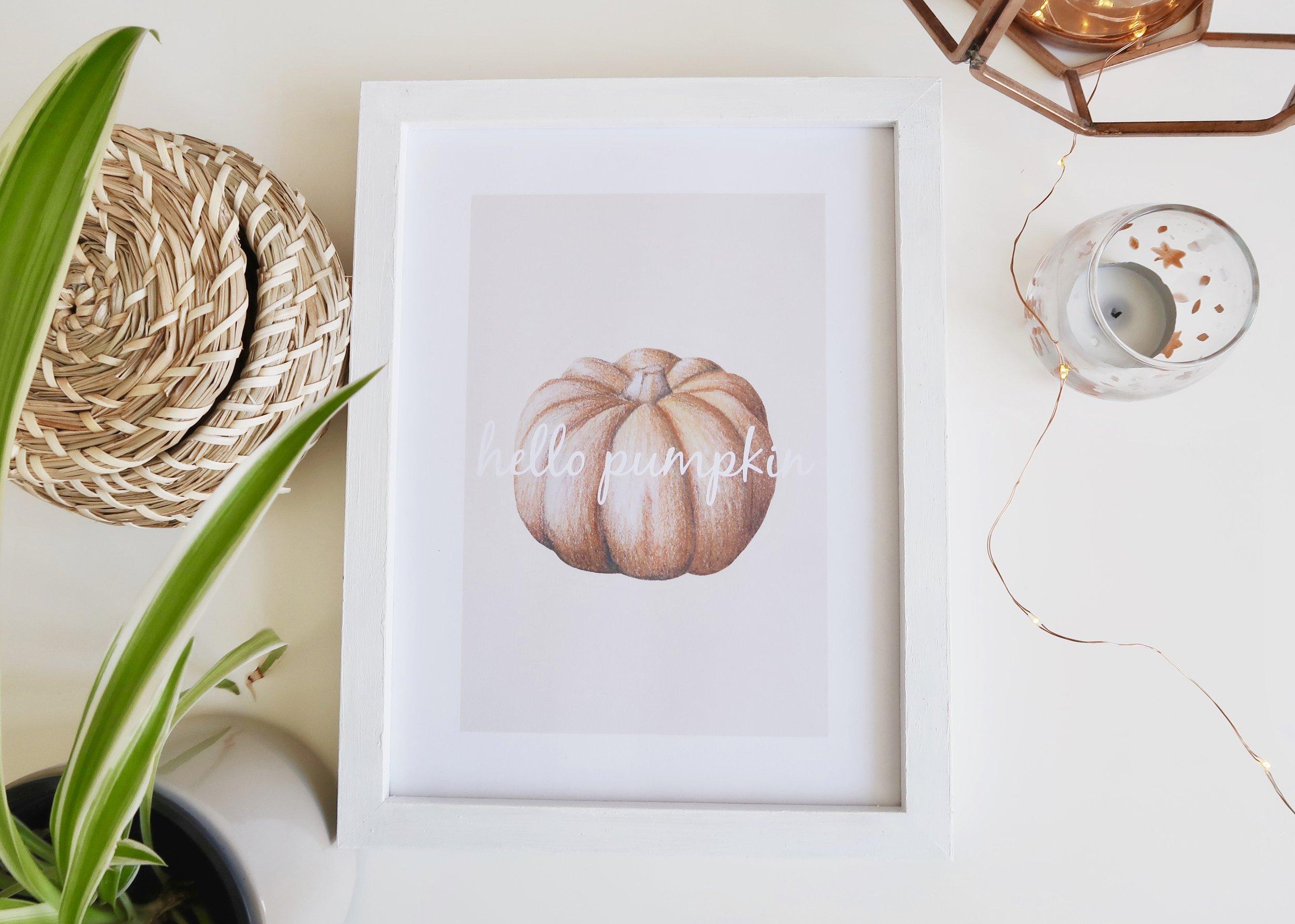 DIY Printable Pumpkin Wall Art by Isoscella