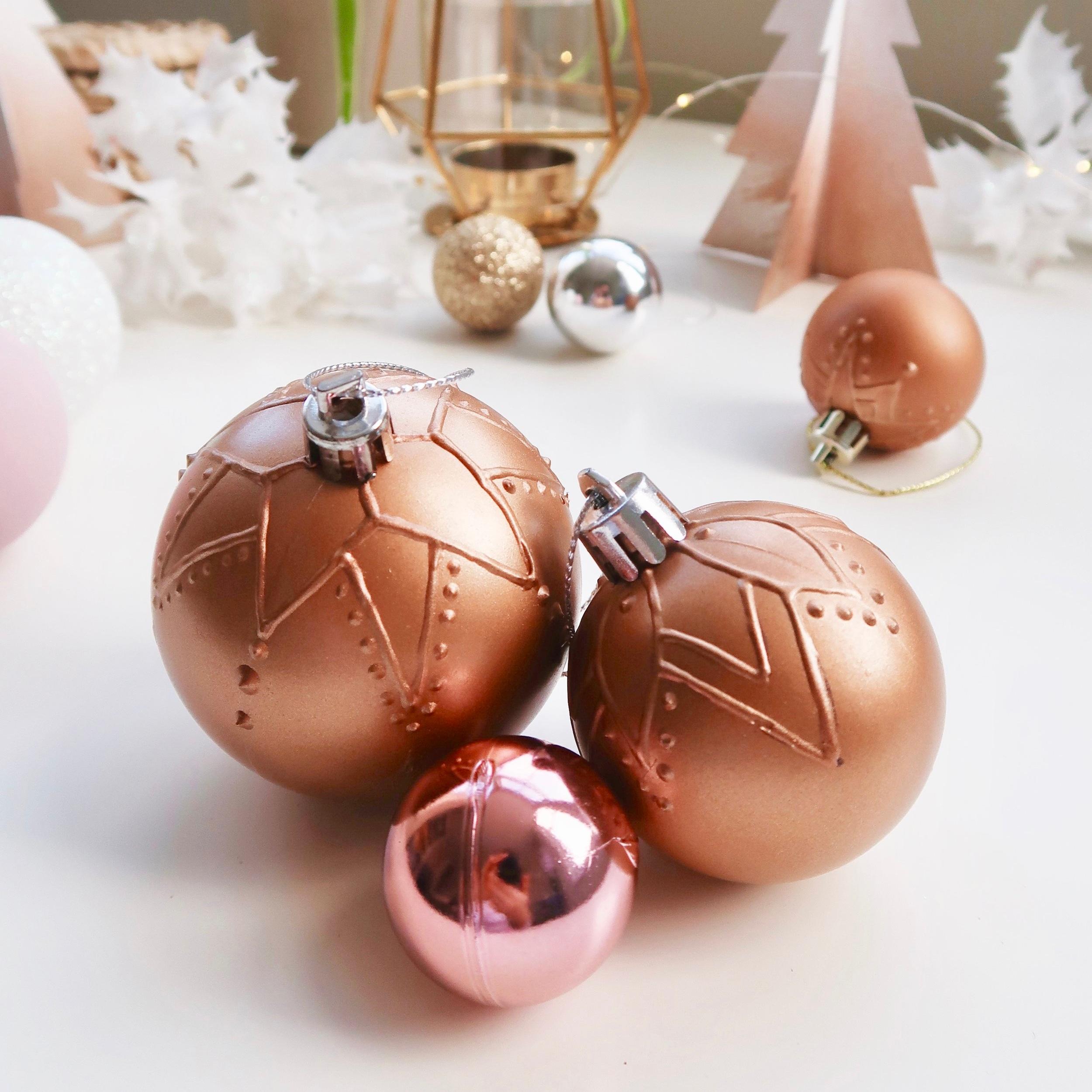 8. - DIY Mandala Textured Tree Ornaments