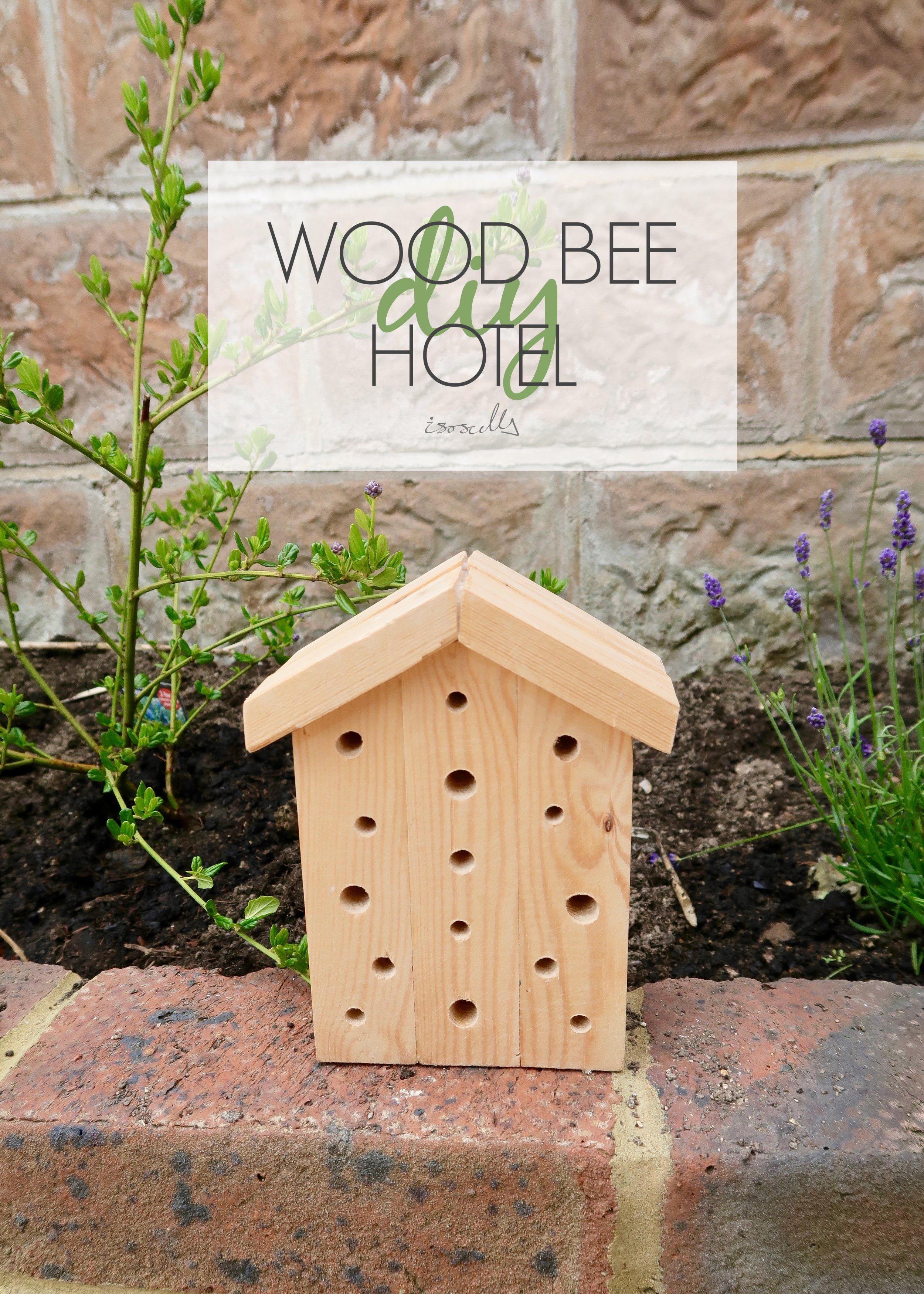 DIY Wooden Bee Hotel by Isoscella