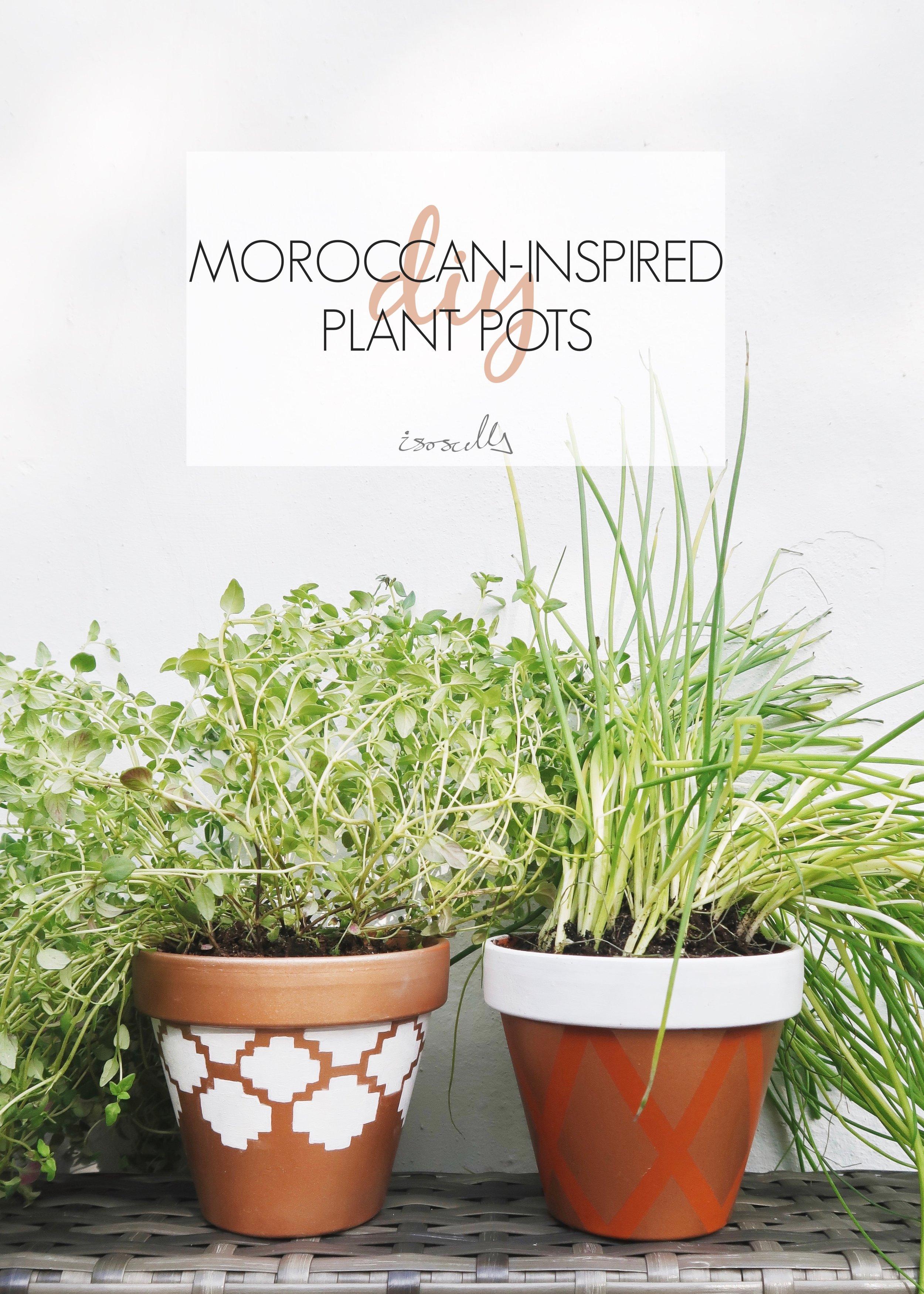 DIY Moroccan-inspired Plant Pots by Isoscella