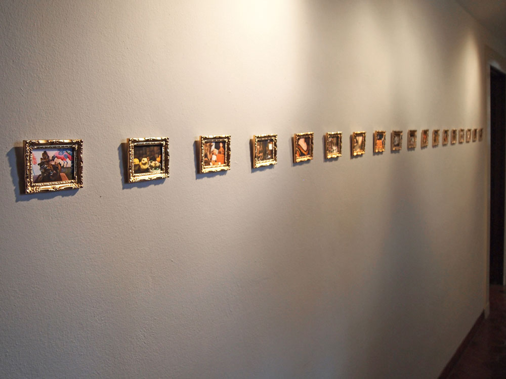 Museo della Natura Morta II     2012  Digital prints in dollhouse frames
