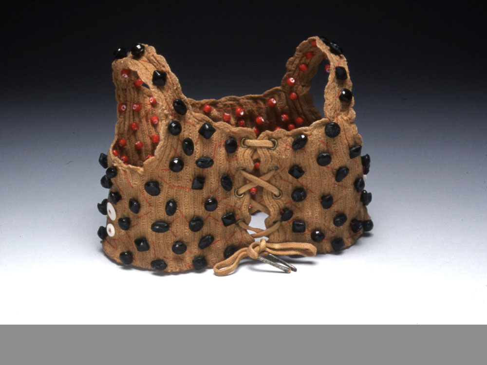 Vest  antique textile, dyed, beads 2002