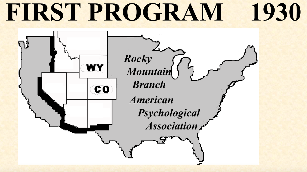 The First Program    1930