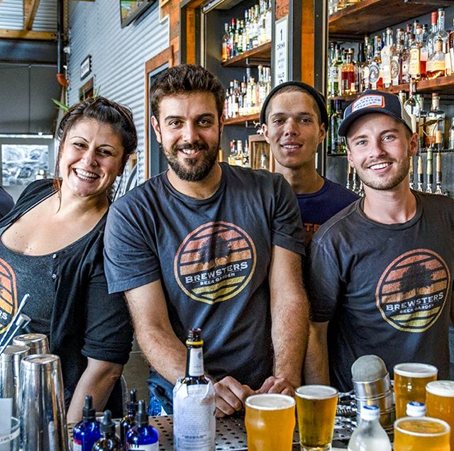 Gang's all here - and ready to make your Sunday Funday extra fun (and extra boozy). Boozy brunch all day, live music at 1. Love to see you. Thanks to @visitpetaluma for the sweet post. #BrewstersBeerGarden