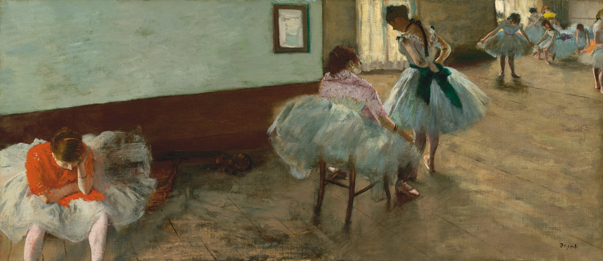 Edgar Degas The Dance Lesson c. 1879 Painting