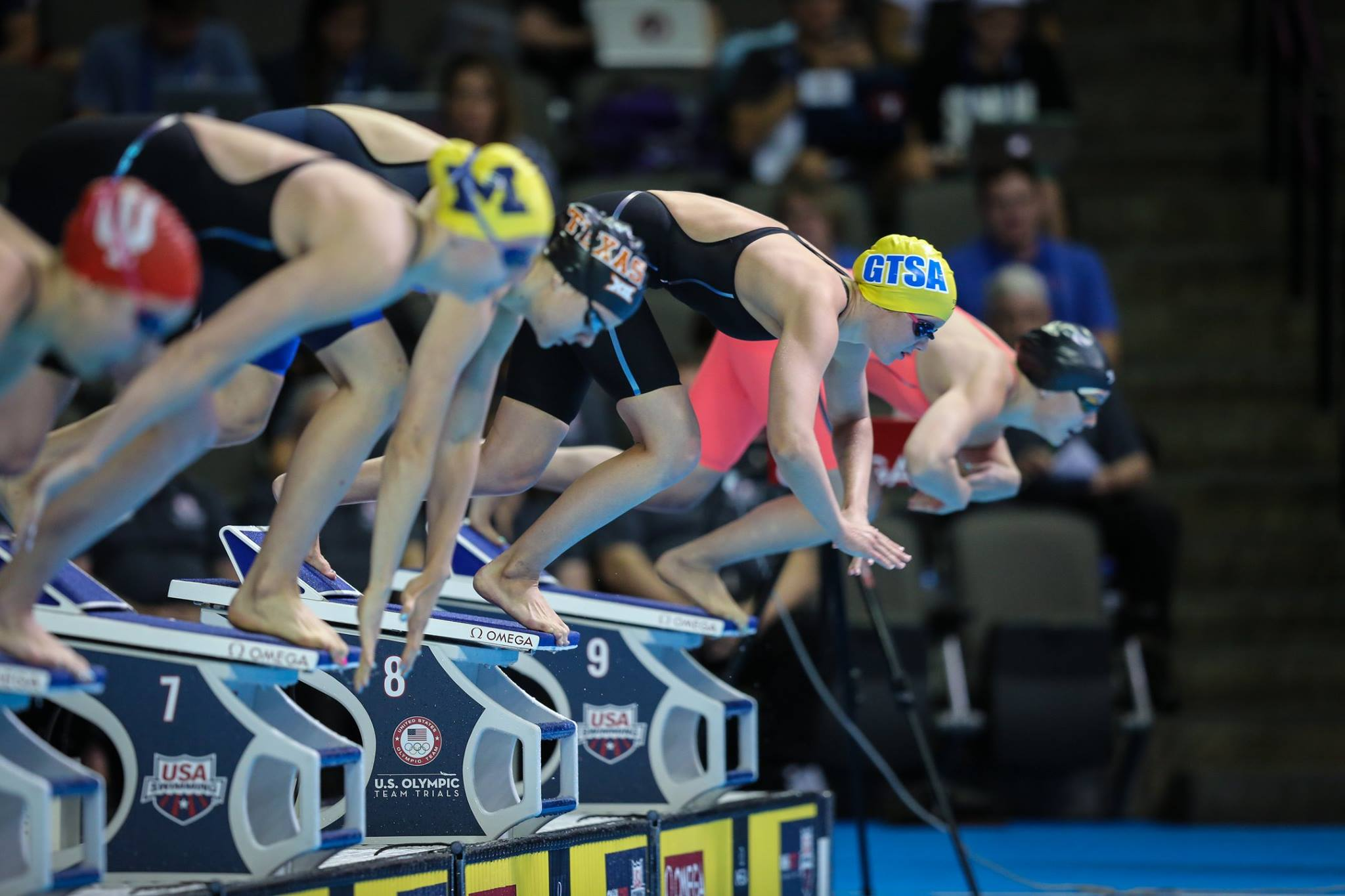 Then H.B. Plant High School swimmer Morgan Tankersley (GTSA) at the 2016 Olympic Trials. Photo: Michael C. Lyn for Florida Swim Network.