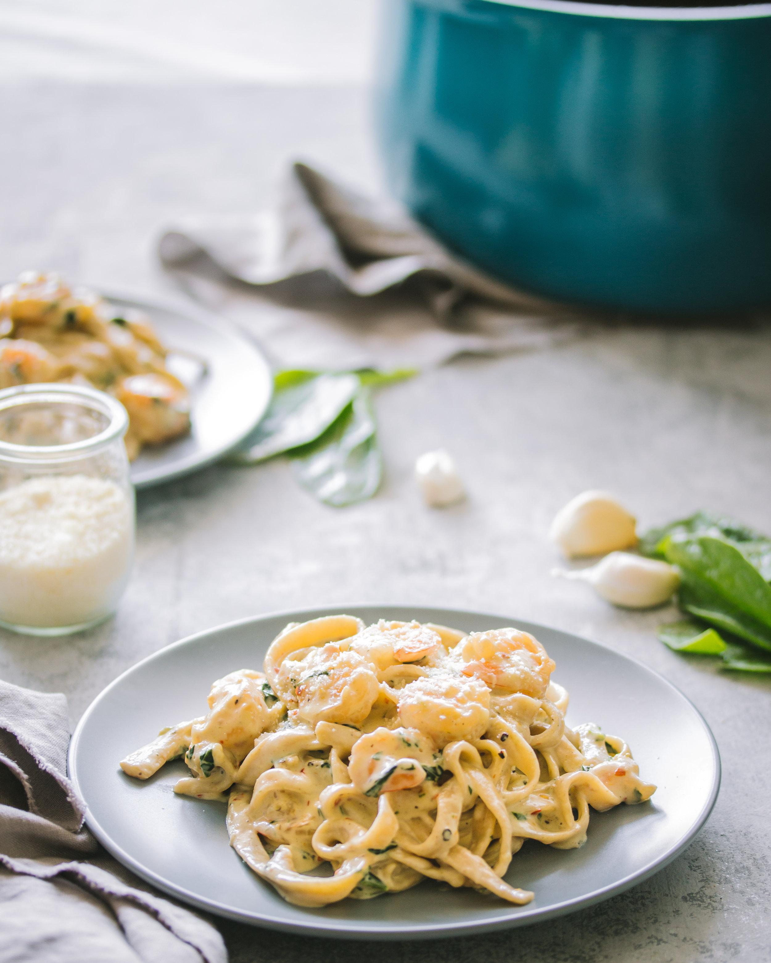 Creamy Garlic Shrimp Fettuccine Bialetti Pasta Pot.jpg