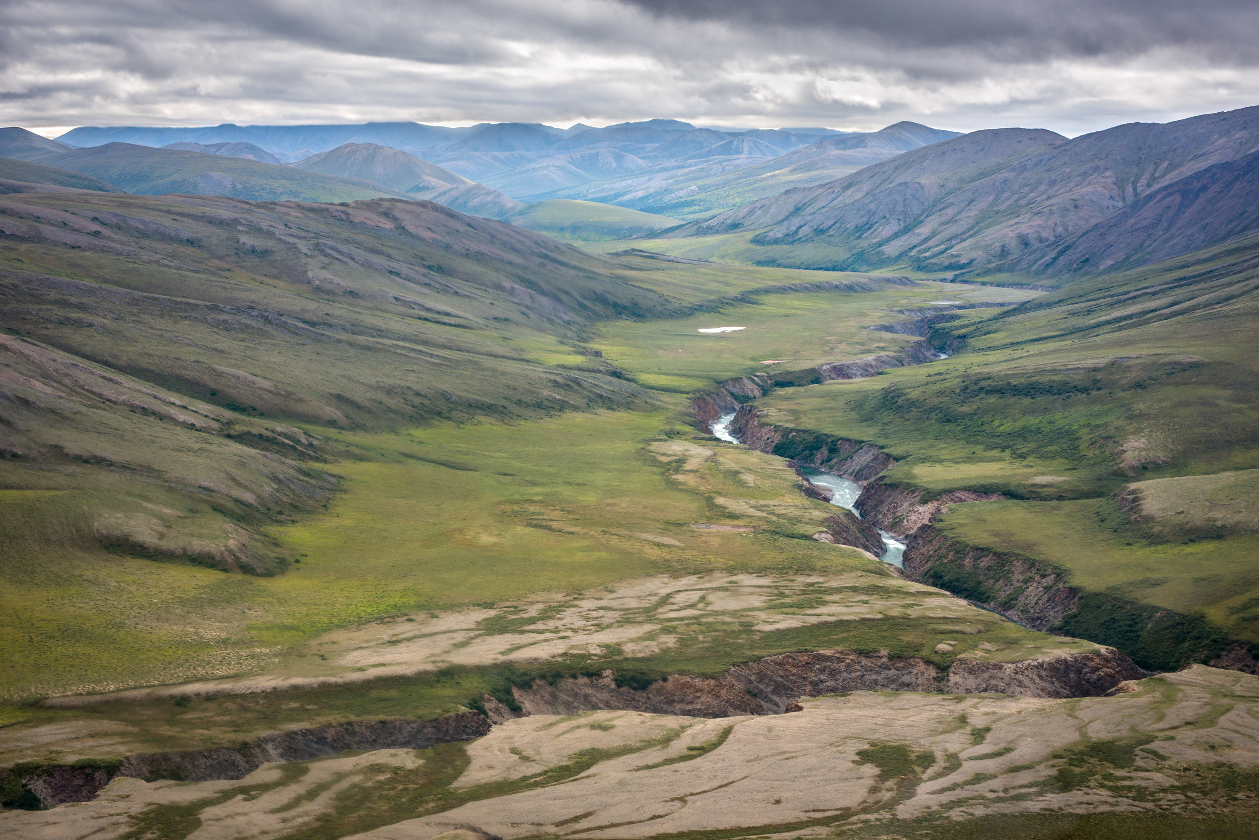The Firth River flows across the geological grain