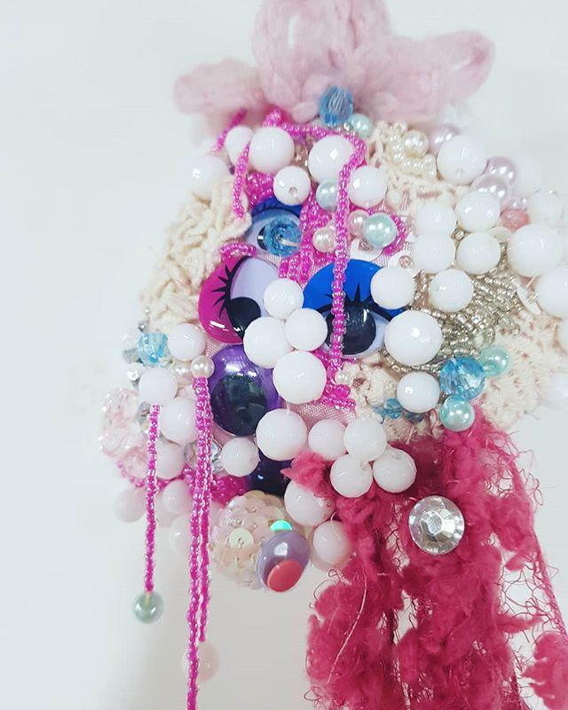 ~DETAILS~ My residency @cottonfactoryca still feels like a dream 😍 . . . . . #contemporyart #beads #beautifulart #sculpture #contemporysculpture #wool #crafts #diy #ailishcreates #ailishcorbett #emergingartist #newartist #canadiantalent #handmade #lowbrow #surrealism #supportlocal #hamiltonishome #hamontart