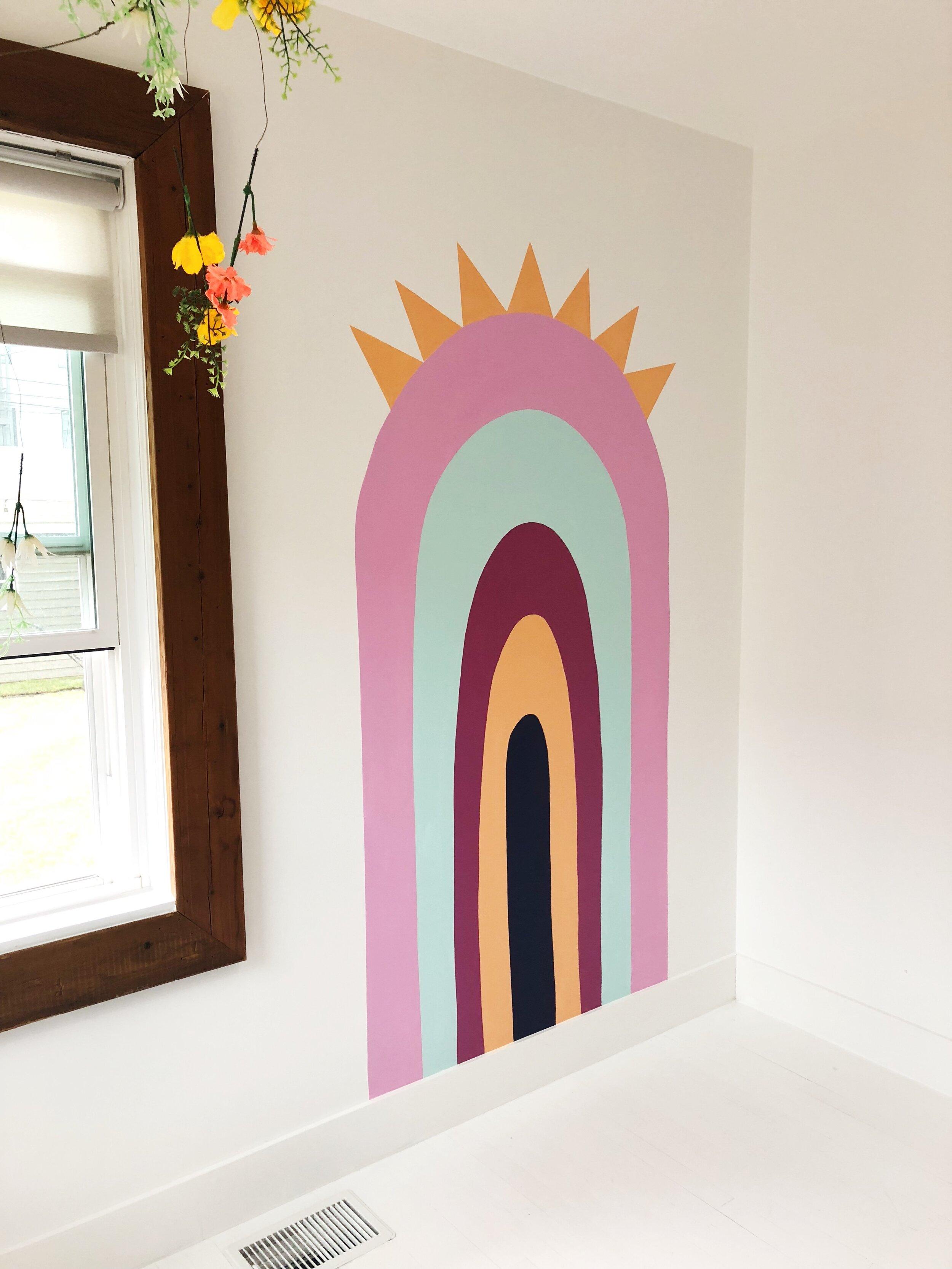 Rainbow Crown Mural