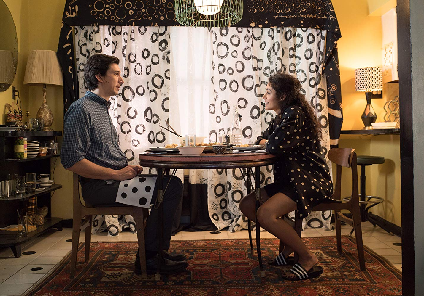 There is a story in those polka dots and circles. (Credit: IMDB)