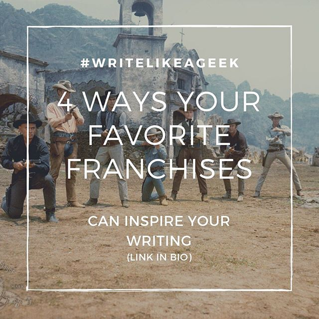 So happy to share a guest post on my site by Lewis Jorstad. He dives into four ways your favorite franchises can inspire your writing. (Link in bio) . . . #writer #writingblog #writingcommunity #amwriting #amwritingfiction #fictionwriter #betterwriting #writingtips #writingadvice #writersofinstagram #writersofinsta #writersofig #theporteport #writelikeageek