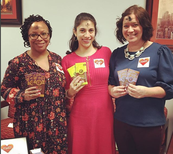 Staff at Xavier High School in New York City prepare fair trade chocolategrams. Proceeds were donated to the Jesuit Refugee Service.