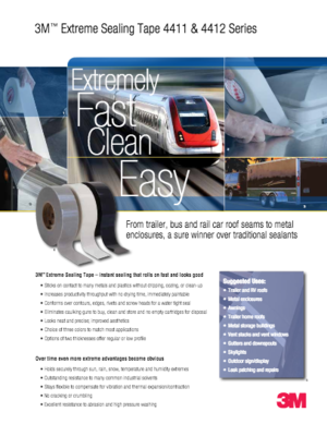 3M Extreme Sealing Tape Product Brochure