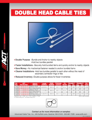 ACT Double Head Cable Ties