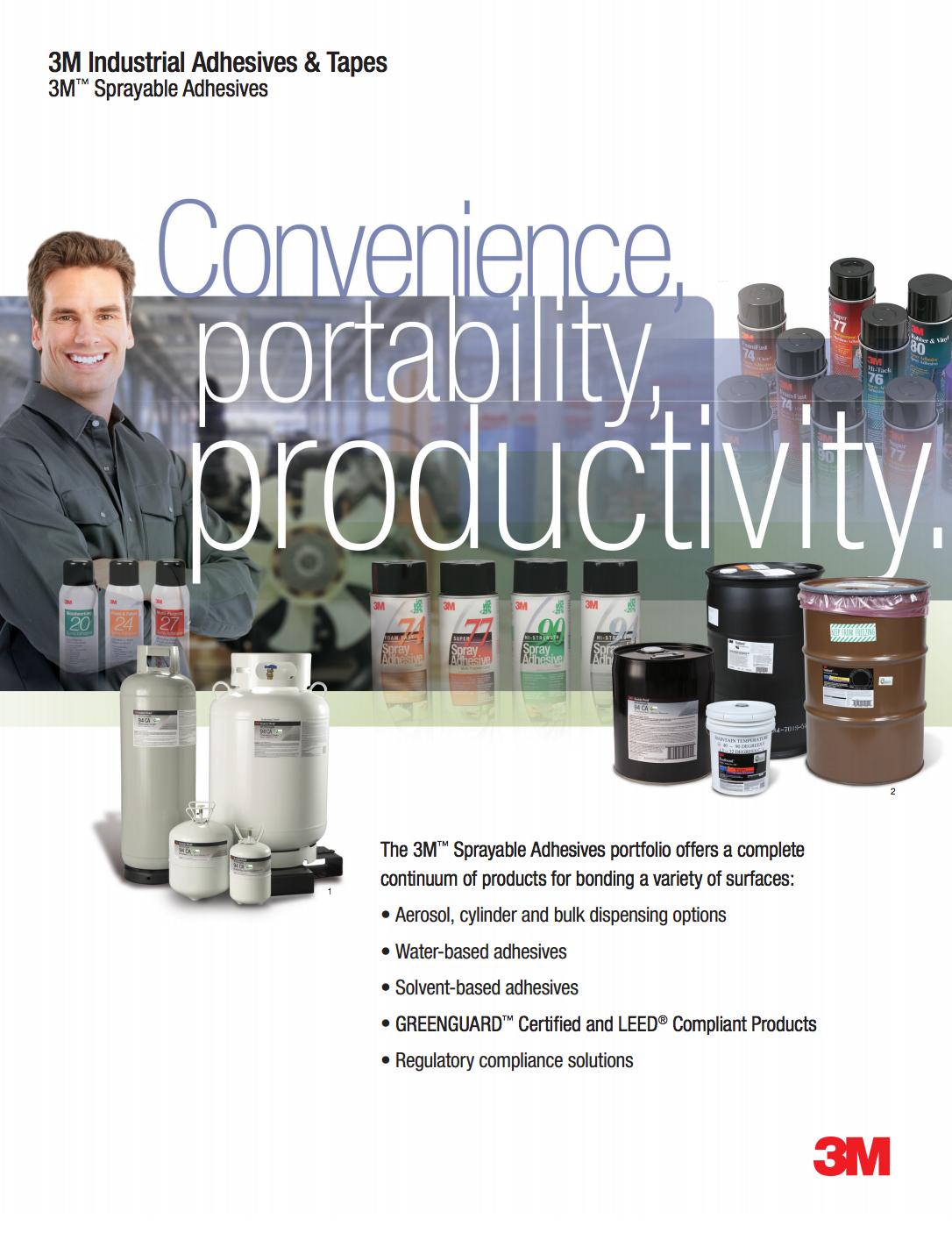 3M Sprayable Adhesives Brochure